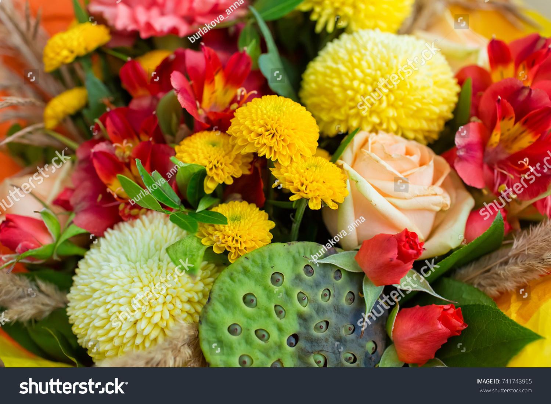 Autumn Bridal Bouquet Autumn Bouquet Wedding Stock Photo Image