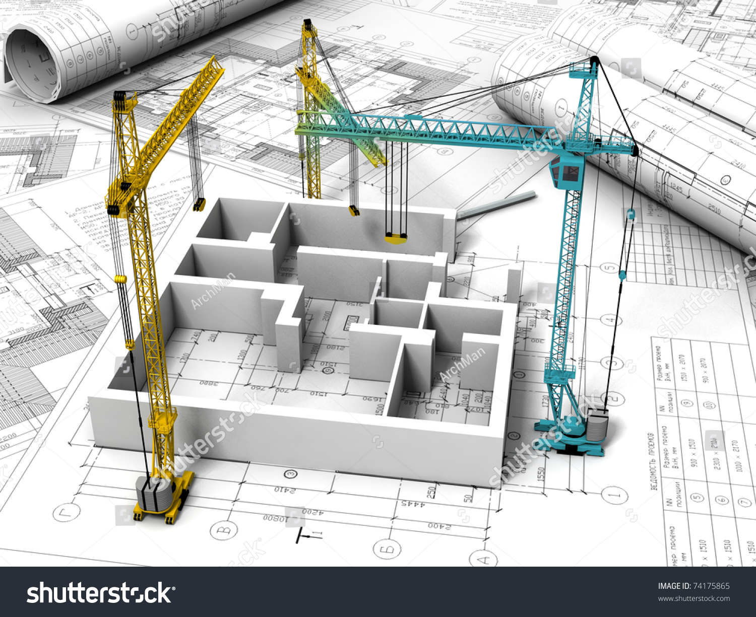 3d plan drawing stock illustration 74175865 shutterstock for 3d plan drawing