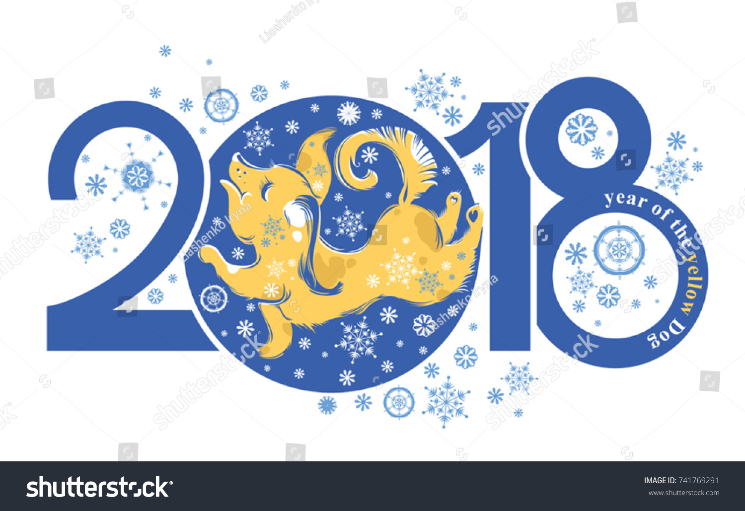 Dog 2018 symbol on chinese calendar stock vector 741769291 dog 2018 symbol on the chinese calendar cute puppy catches snowflakes year of the biocorpaavc