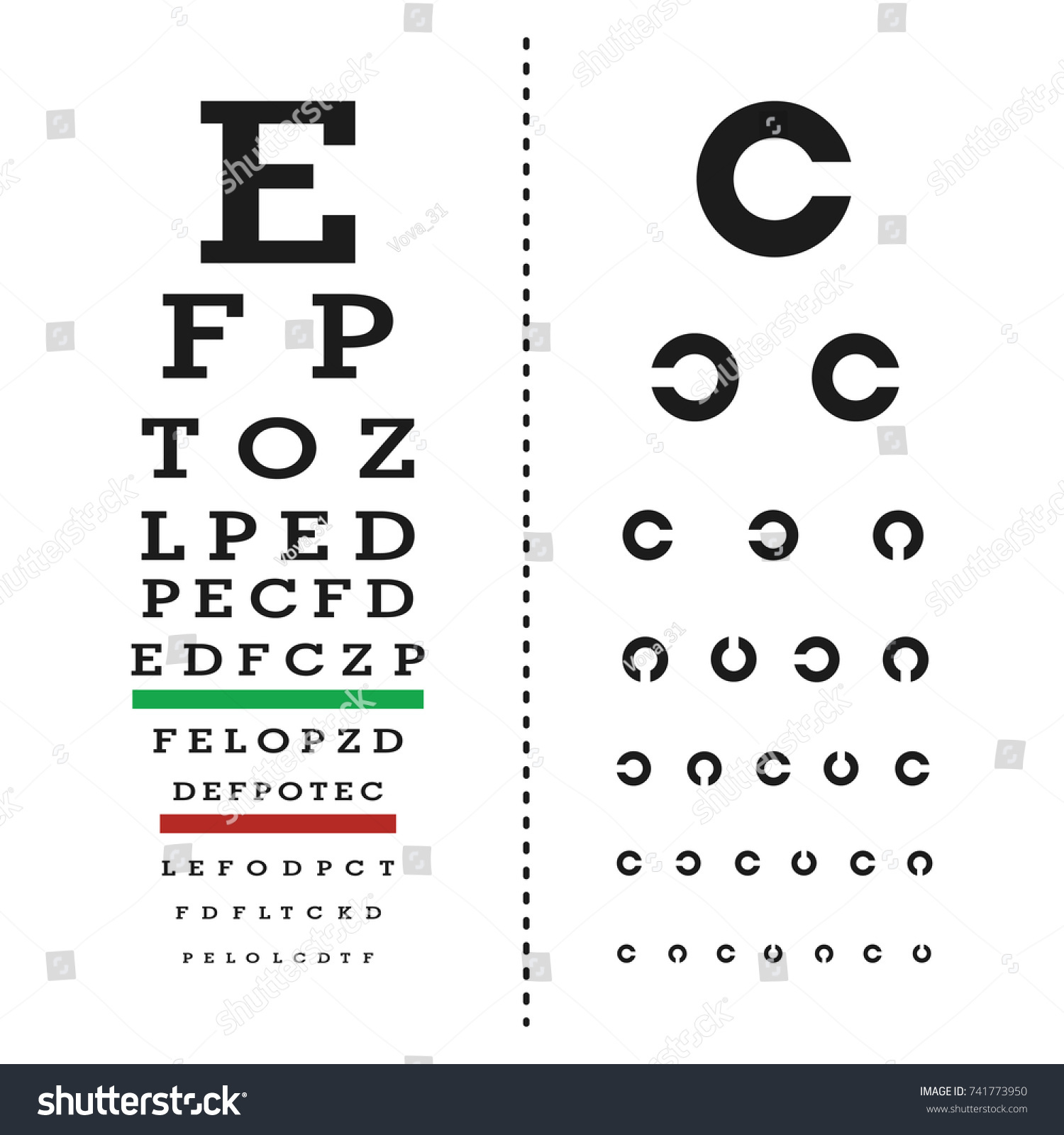 Eyes test chart latin letters stock vector 741773950 shutterstock eyes test chart with latin letters geenschuldenfo Image collections