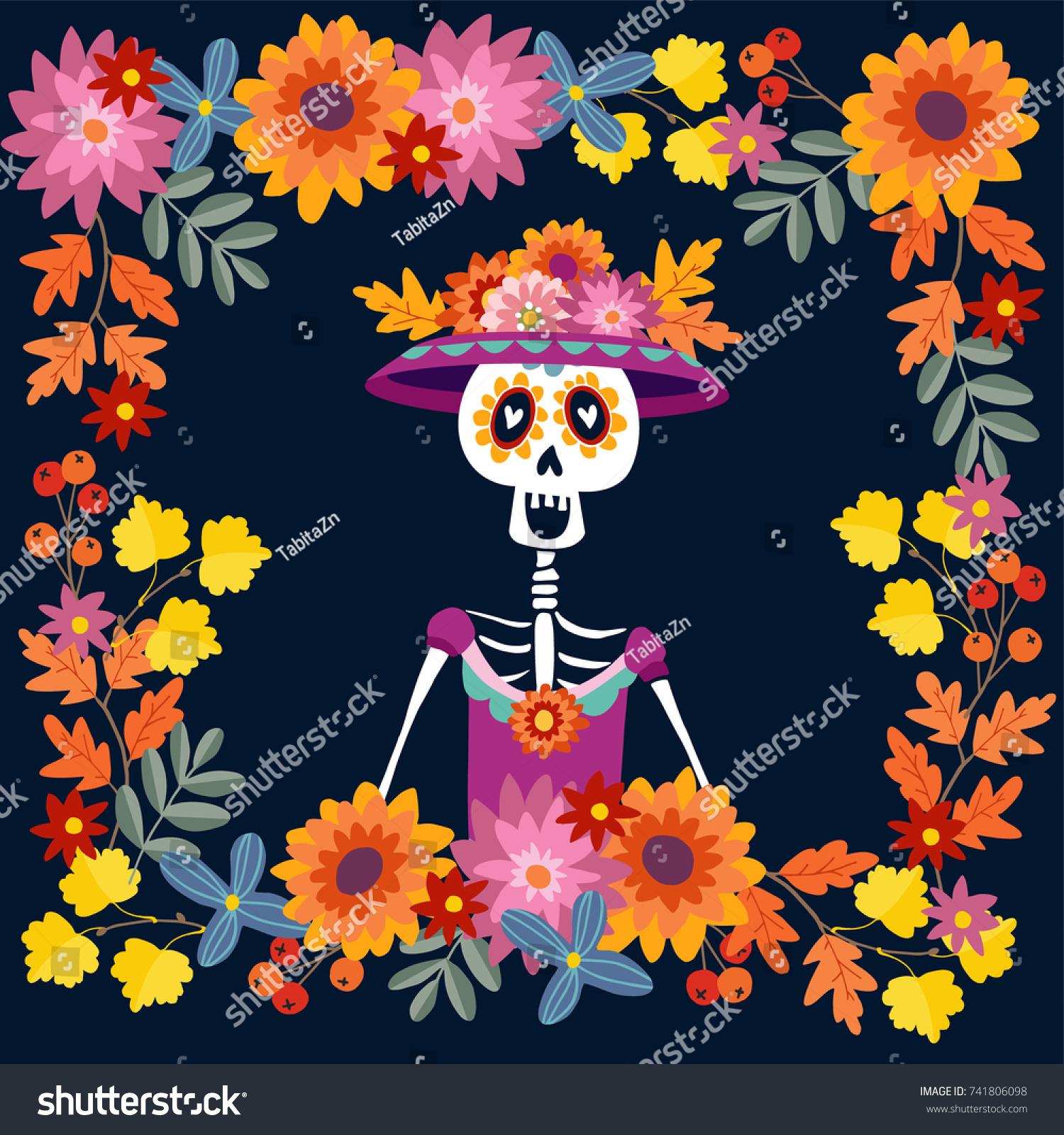 Dia De Los Muertos Greeting Card Stock Vector (Royalty Free ...