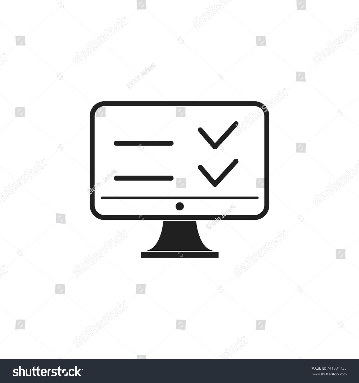 Web Test Multiple Choice Questions Icon Vector de stock741831733 ...