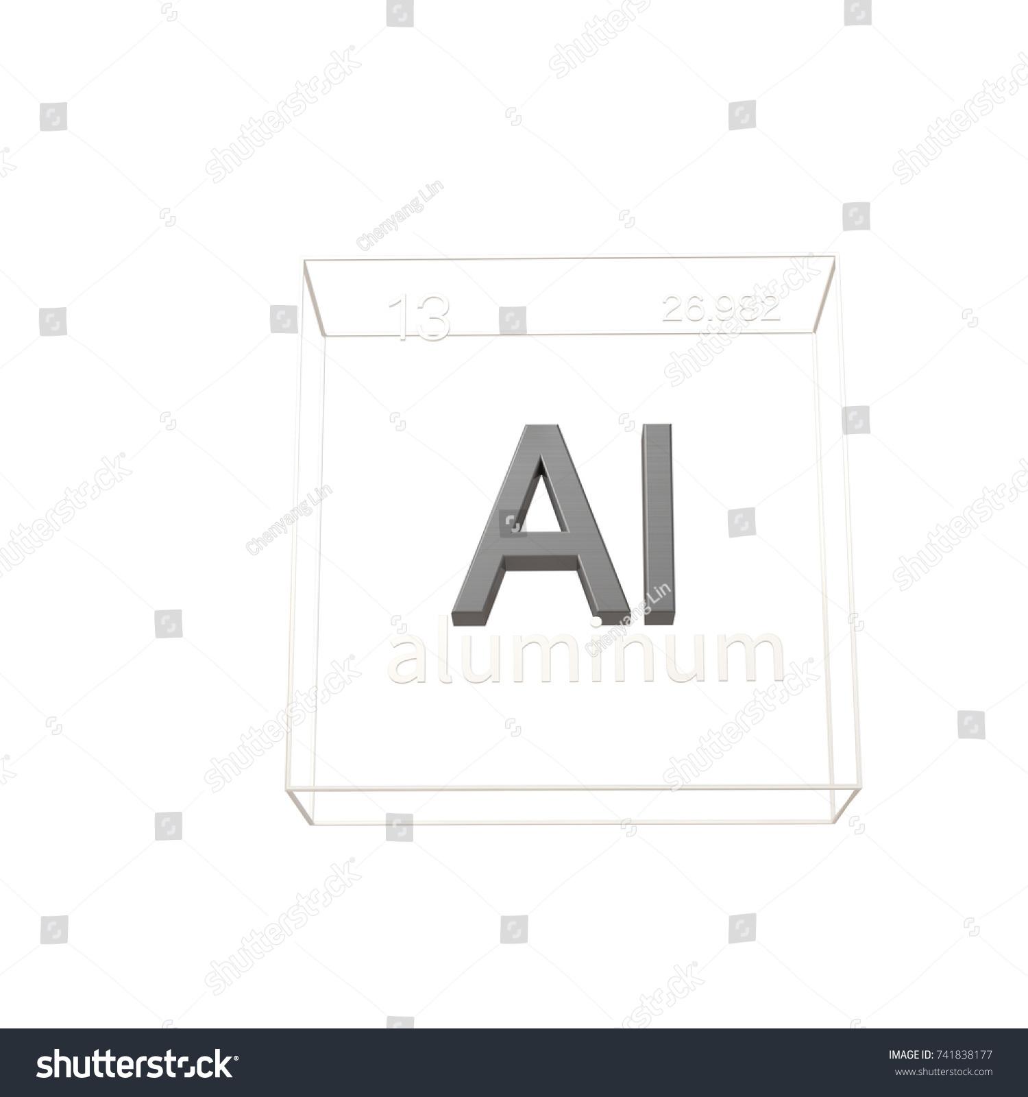 Aluminum Chemical Element Atomic Number Atomic Stock Illustration