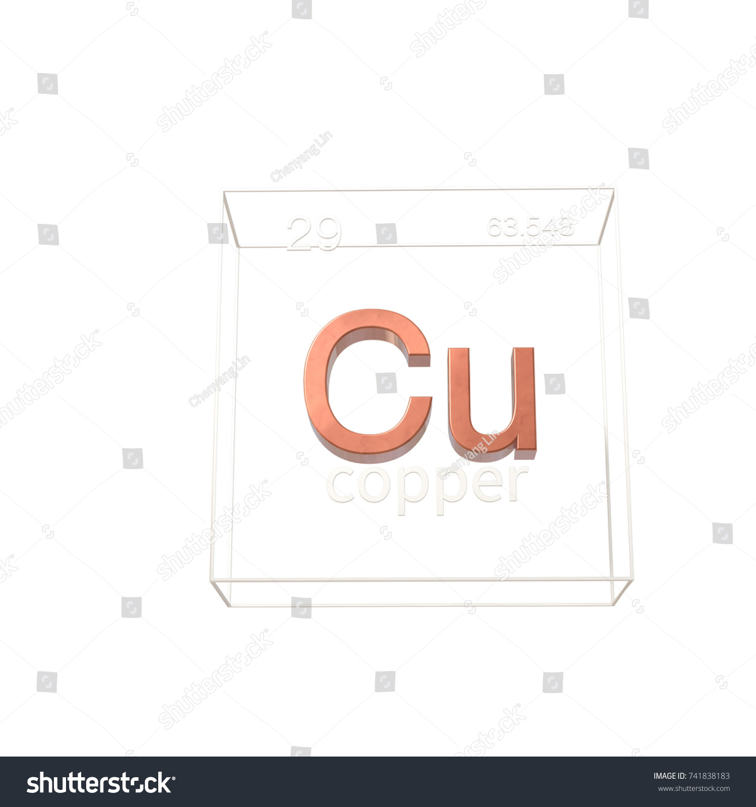 Copper chemical element atomic number atomic stock illustration copper chemical element atomic number and atomic weight chemical element of periodic table buycottarizona
