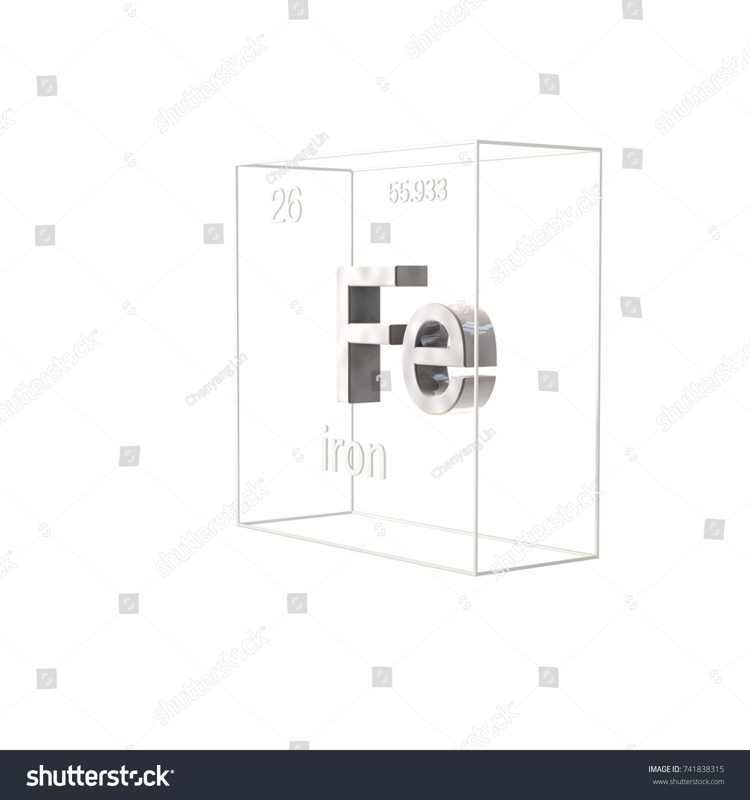 Iron chemical element atomic number atomic stock illustration iron chemical element atomic number and atomic weight chemical element of periodic table urtaz Gallery