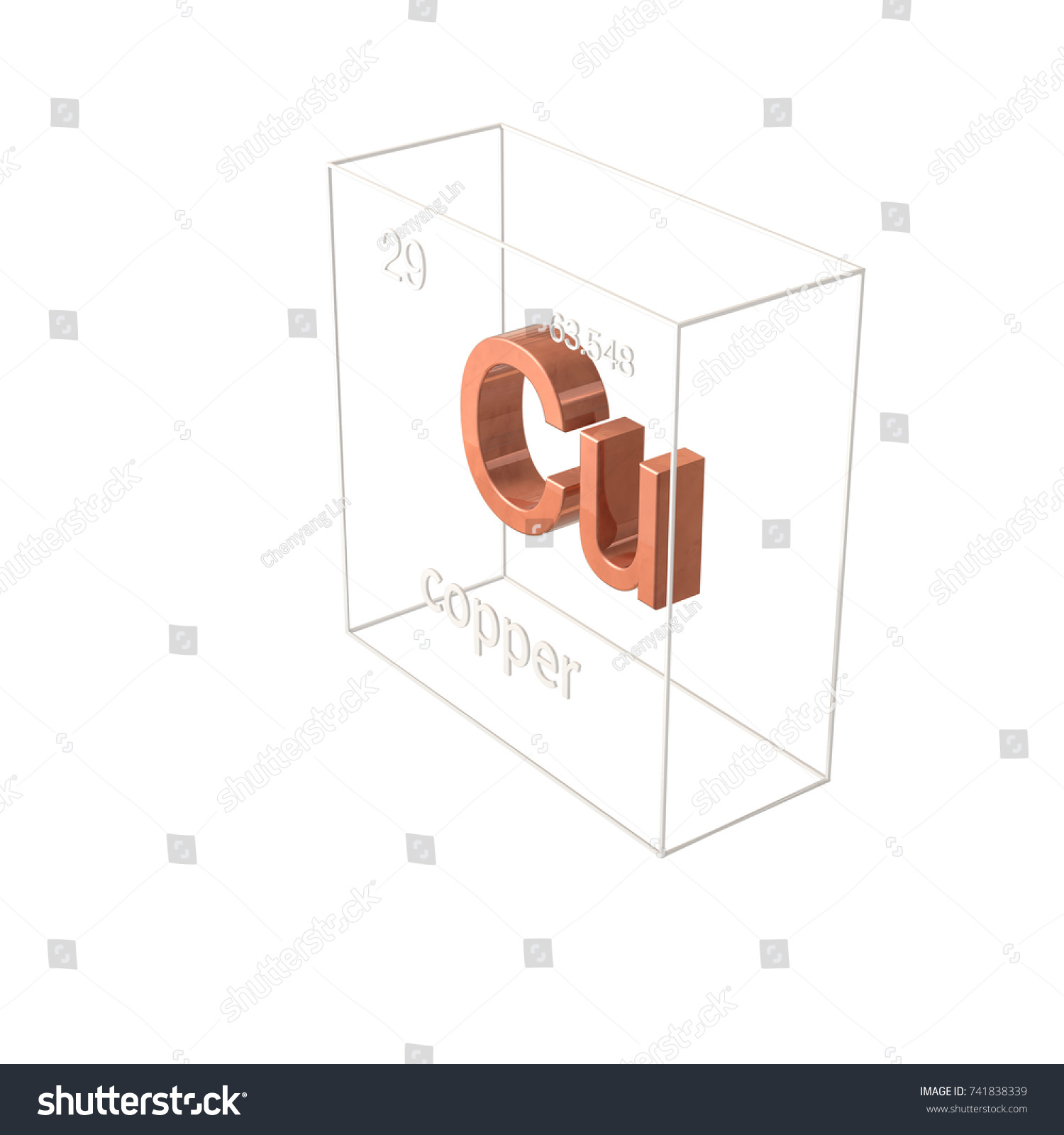 Copper chemical element atomic number atomic stock illustration copper chemical element atomic number and atomic weight chemical element of periodic table urtaz Image collections