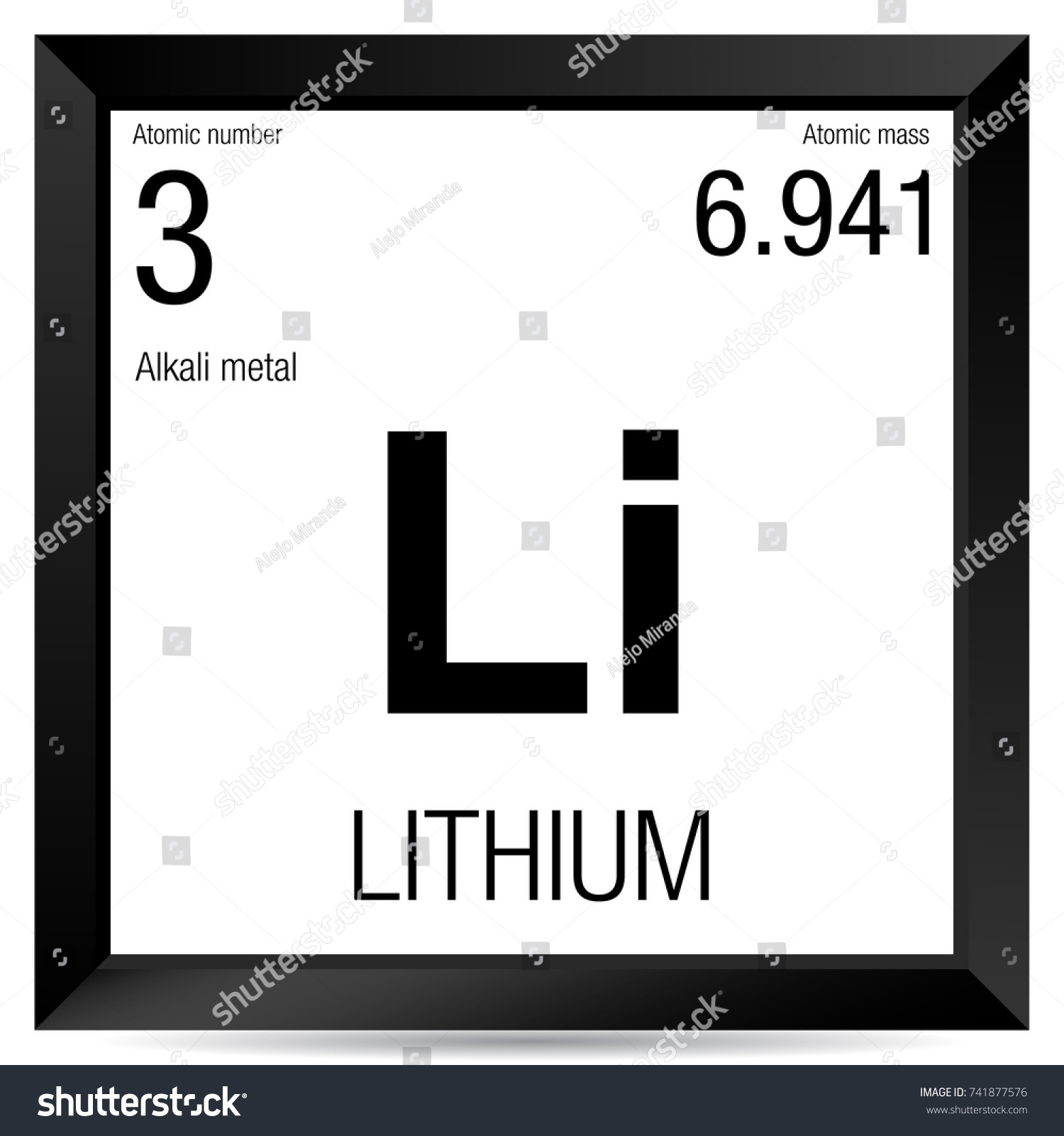 Lithium symbol element number 3 periodic stock vector 741877576 lithium symbol element number 3 of the periodic table of the elements chemistry buycottarizona