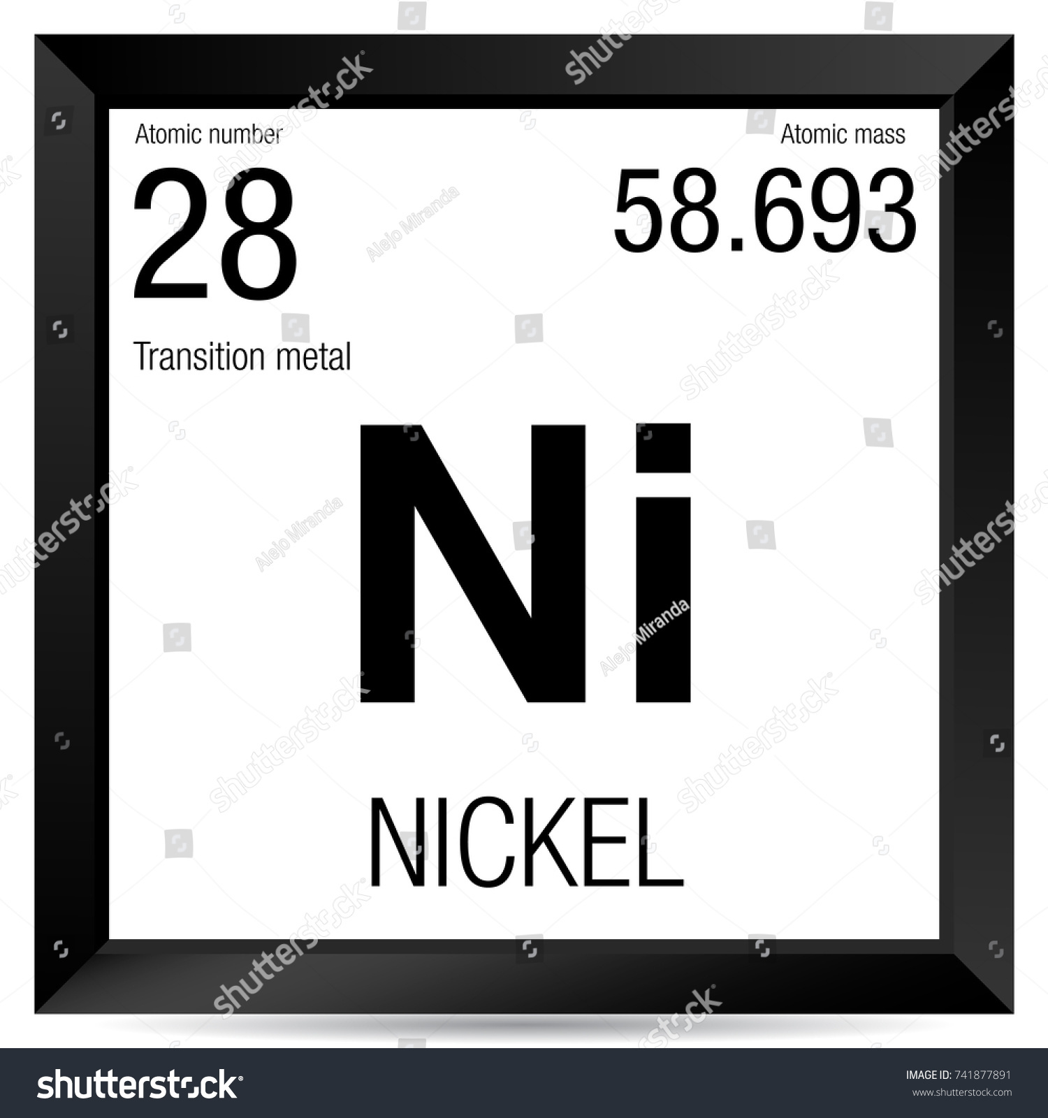 Barium symbol periodic table images periodic table images nickel symbol element number 28 periodic stock vector 741877891 nickel symbol element number 28 of the gamestrikefo Gallery
