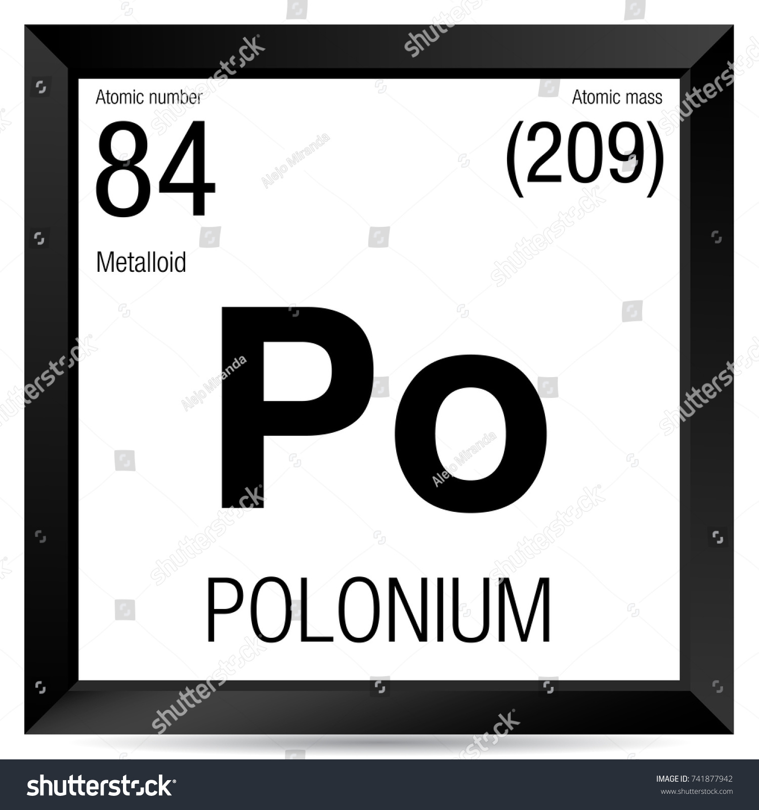 Polonium symbol element number 84 periodic stock vector 741877942 element number 84 of the periodic table of the elements chemistry gamestrikefo Choice Image