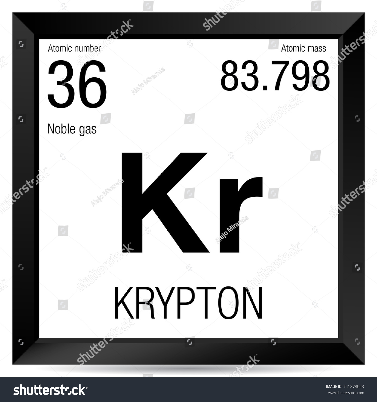 Krypton symbol element number 36 periodic stock vector 741878023 krypton symbol element number 36 of the periodic table of the elements chemistry gamestrikefo Images