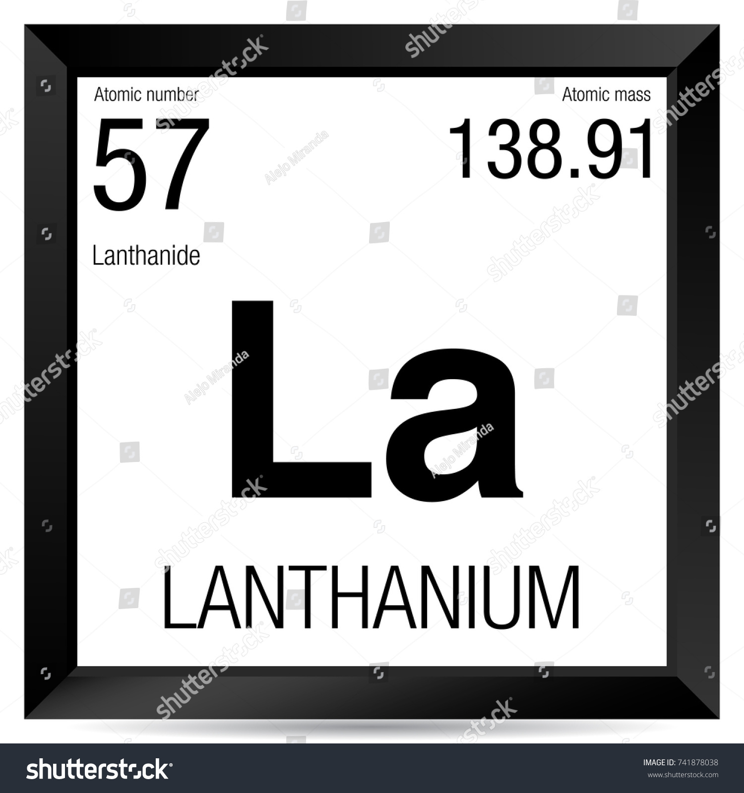 Lanthanium symbol element number 57 periodic stock vector lanthanium symbol element number 57 of the periodic table of the elements chemistry gamestrikefo Images