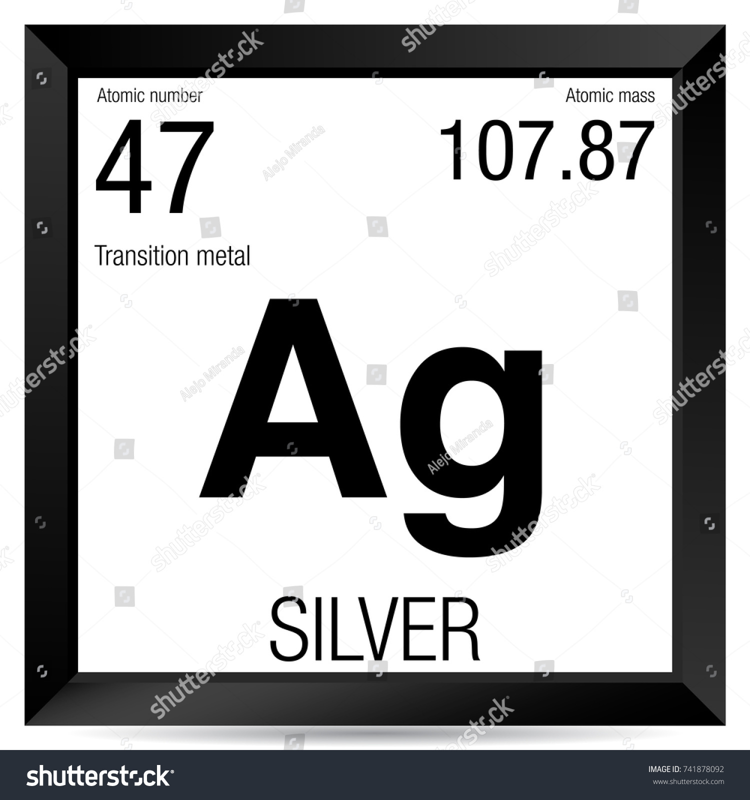Periodic table 47 gallery periodic table images silver symbol element number 47 periodic stock vector 741878092 element number 47 of the periodic table gamestrikefo Images