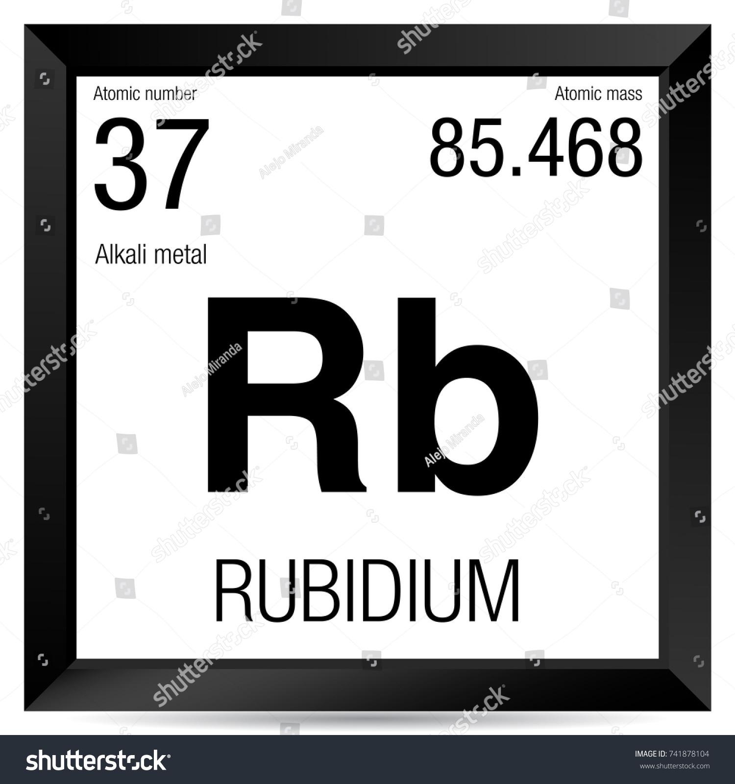 Rubidium symbol element number 37 periodic stock vector 741878104 rubidium symbol element number 37 of the periodic table of the elements chemistry buycottarizona Choice Image