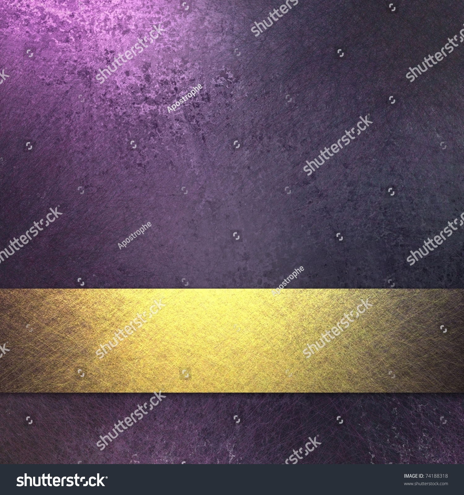 Rich Royal Purple Background Dark Grunge Stock