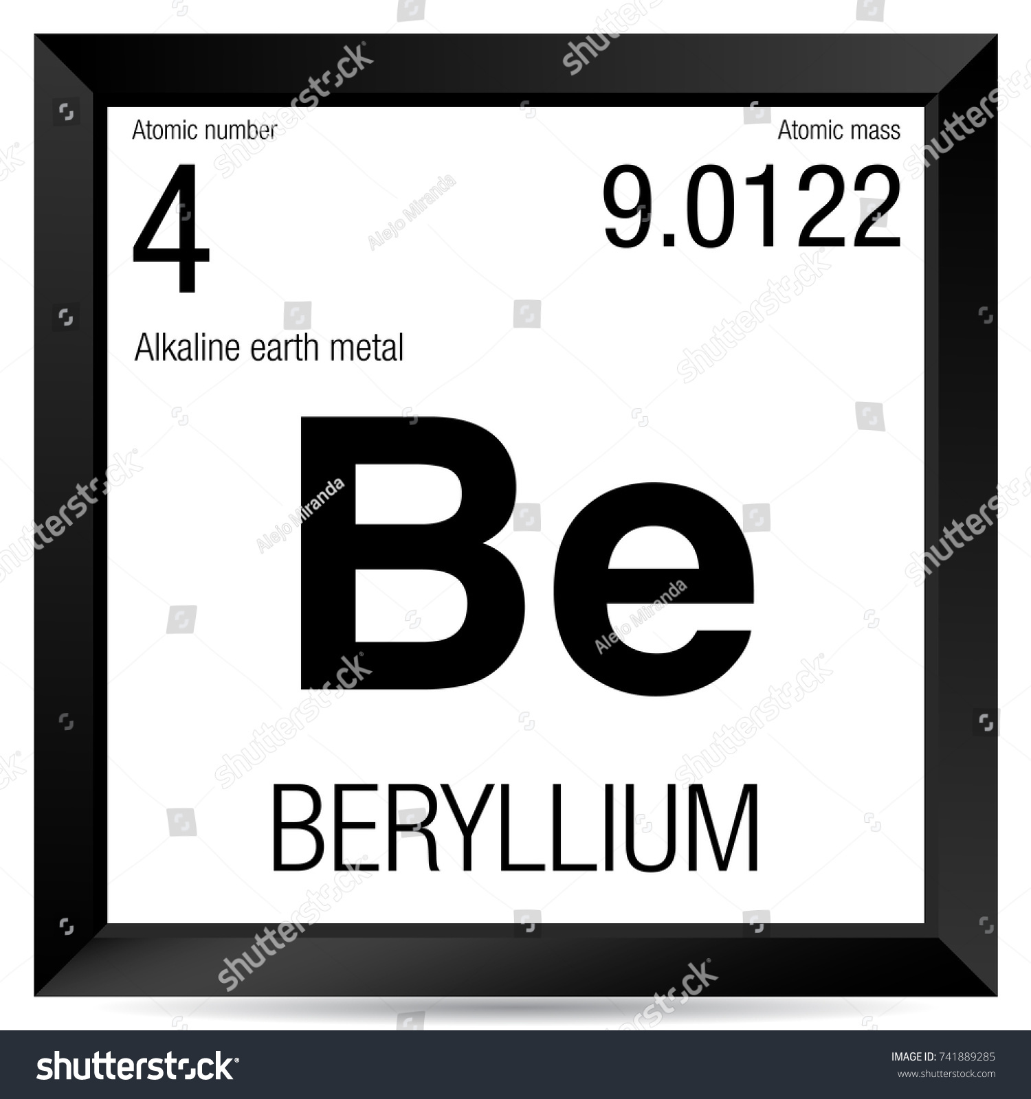 Beryllium symbol element number 4 periodic stock vector 741889285 beryllium symbol element number 4 of the periodic table of the elements chemistry biocorpaavc Images