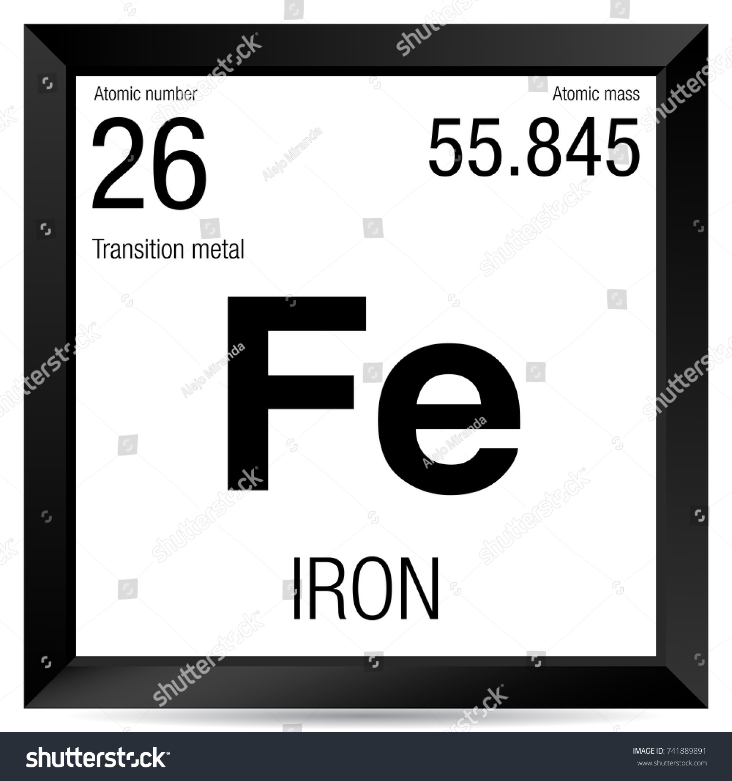 Iron symbol element number 26 periodic stock vector 741889891 iron symbol element number 26 of the periodic table of the elements chemistry buycottarizona Image collections