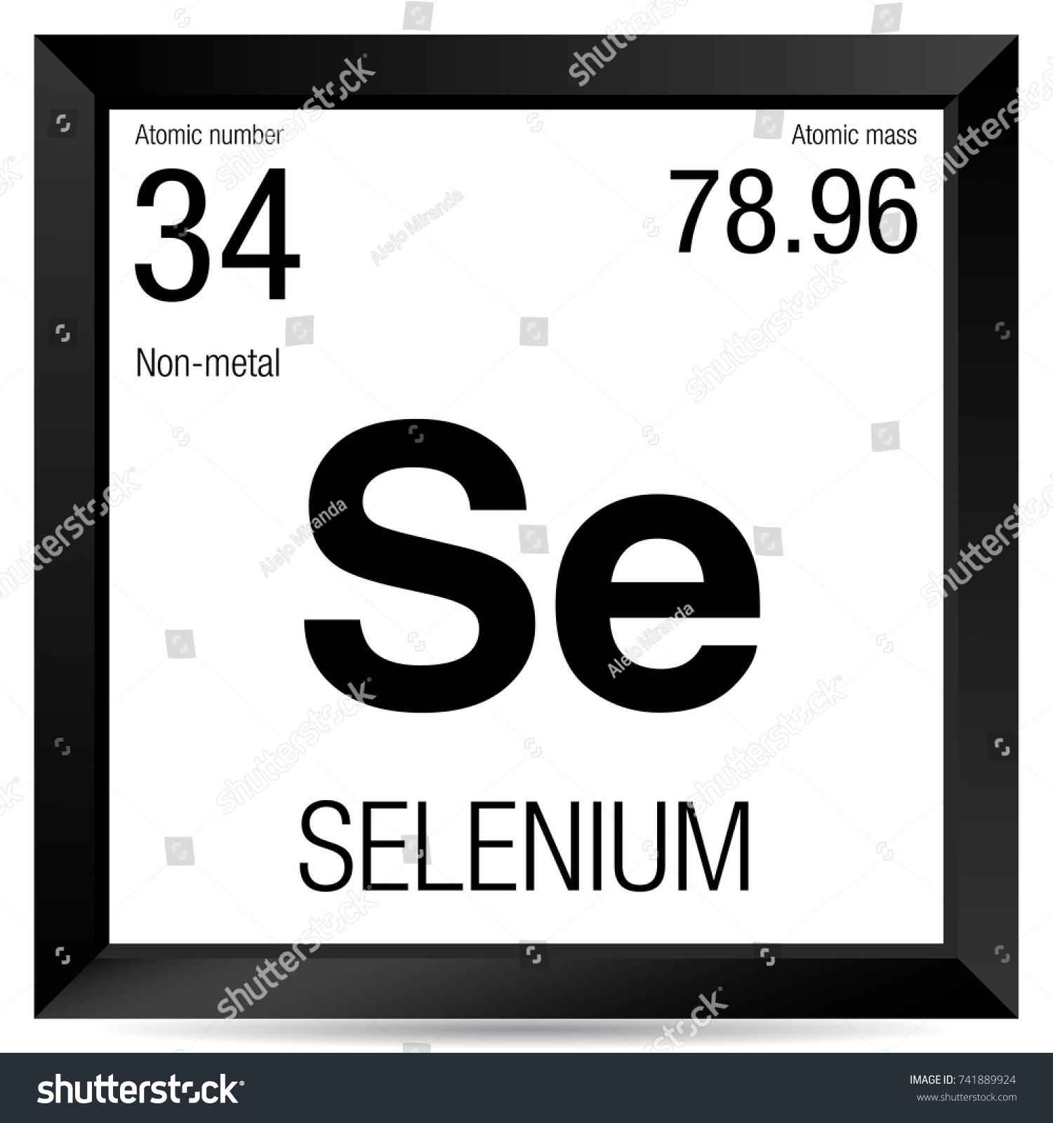 Selenium symbol element number 34 periodic stock vector 741889924 selenium symbol element number 34 of the periodic table of the elements chemistry gamestrikefo Images