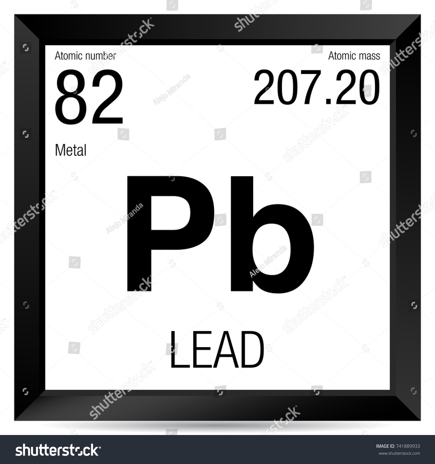 Lead symbol element number 82 periodic stock vector royalty free lead symbol element number 82 of the periodic table of the elements chemistry urtaz Gallery