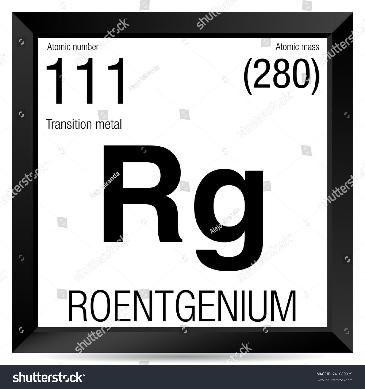 Roentgenium symbol element number 111 periodic stock vector element number 111 of the periodic table of the elements chemistry urtaz Gallery