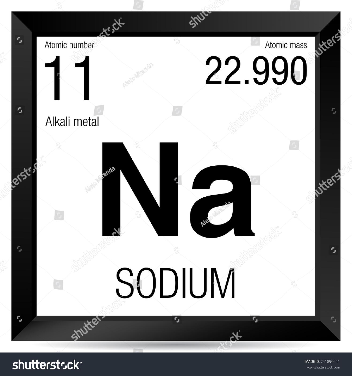 Sodium Symbol Element Number 11 Periodic Stock Photo Photo Vector