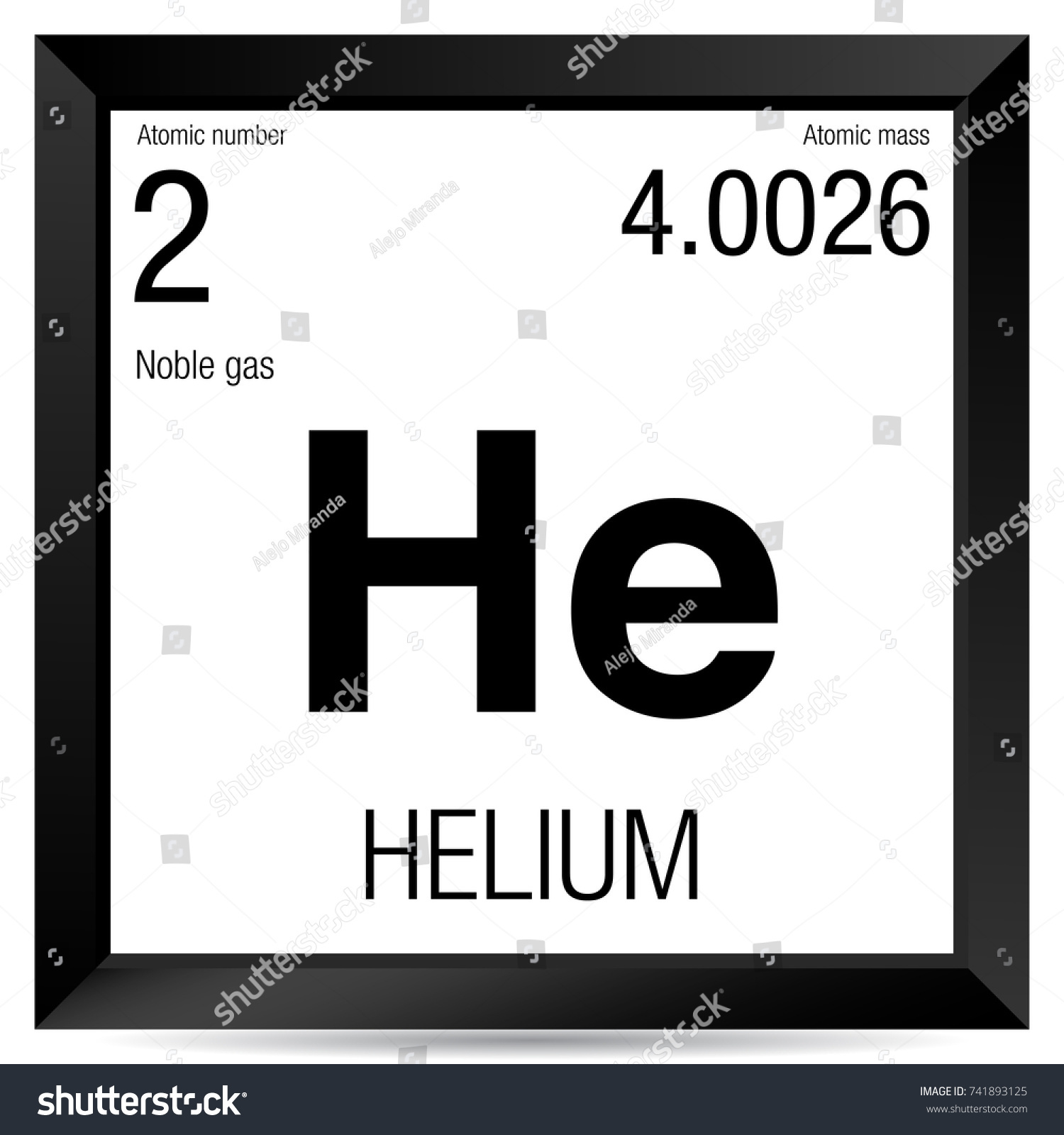 Helium symbol element number 2 periodic stock vector 741893125 helium symbol element number 2 of the periodic table of the elements chemistry buycottarizona
