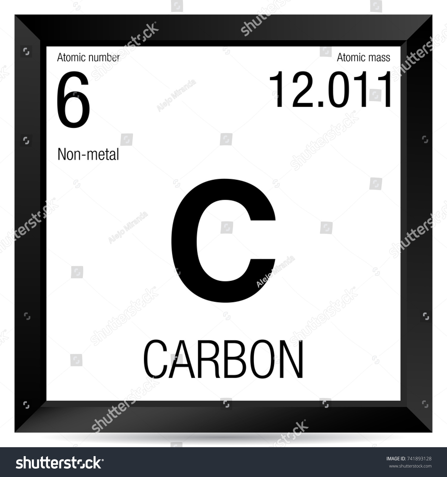 Carbon symbol element number 6 periodic stock vector 741893128 carbon symbol element number 6 of the periodic table of the elements chemistry gamestrikefo Gallery