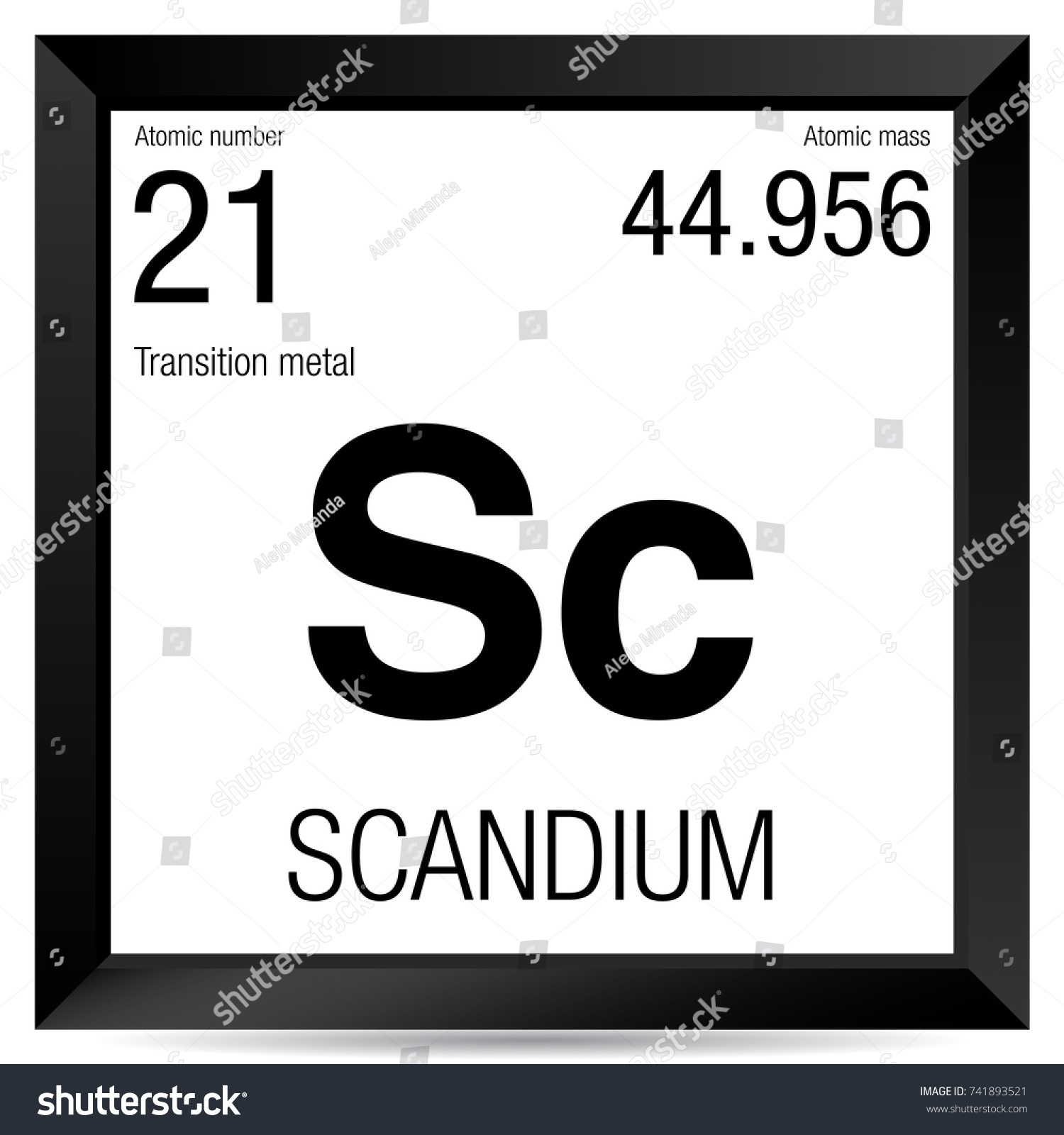 Scandium symbol element number 21 periodic stock vector 741893521 scandium symbol element number 21 of the periodic table of the elements chemistry gamestrikefo Images