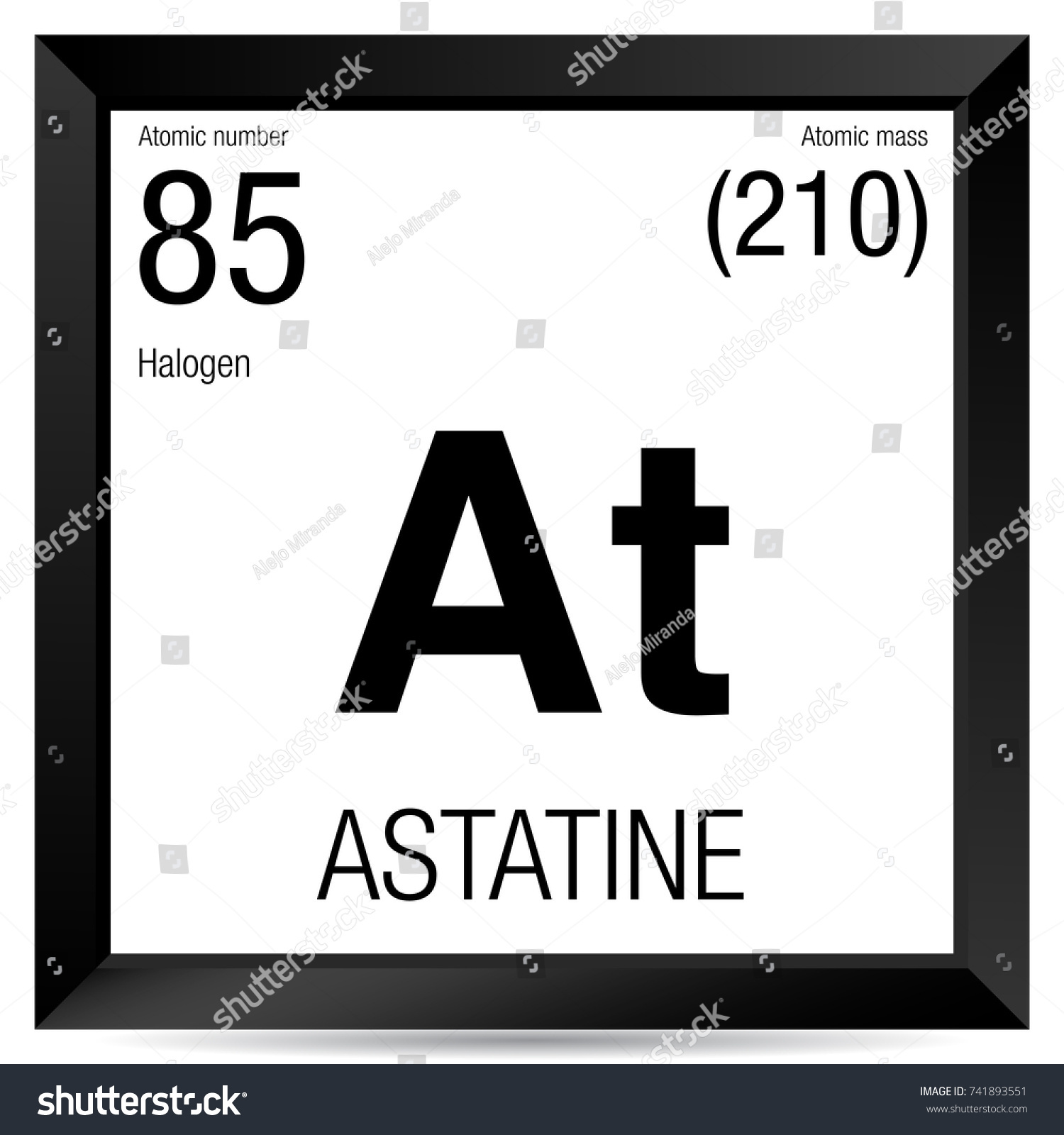 Astatine on the periodic table images periodic table images astatine symbol element number 85 periodic stock vector 741893551 astatine symbol element number 85 of the gamestrikefo Gallery