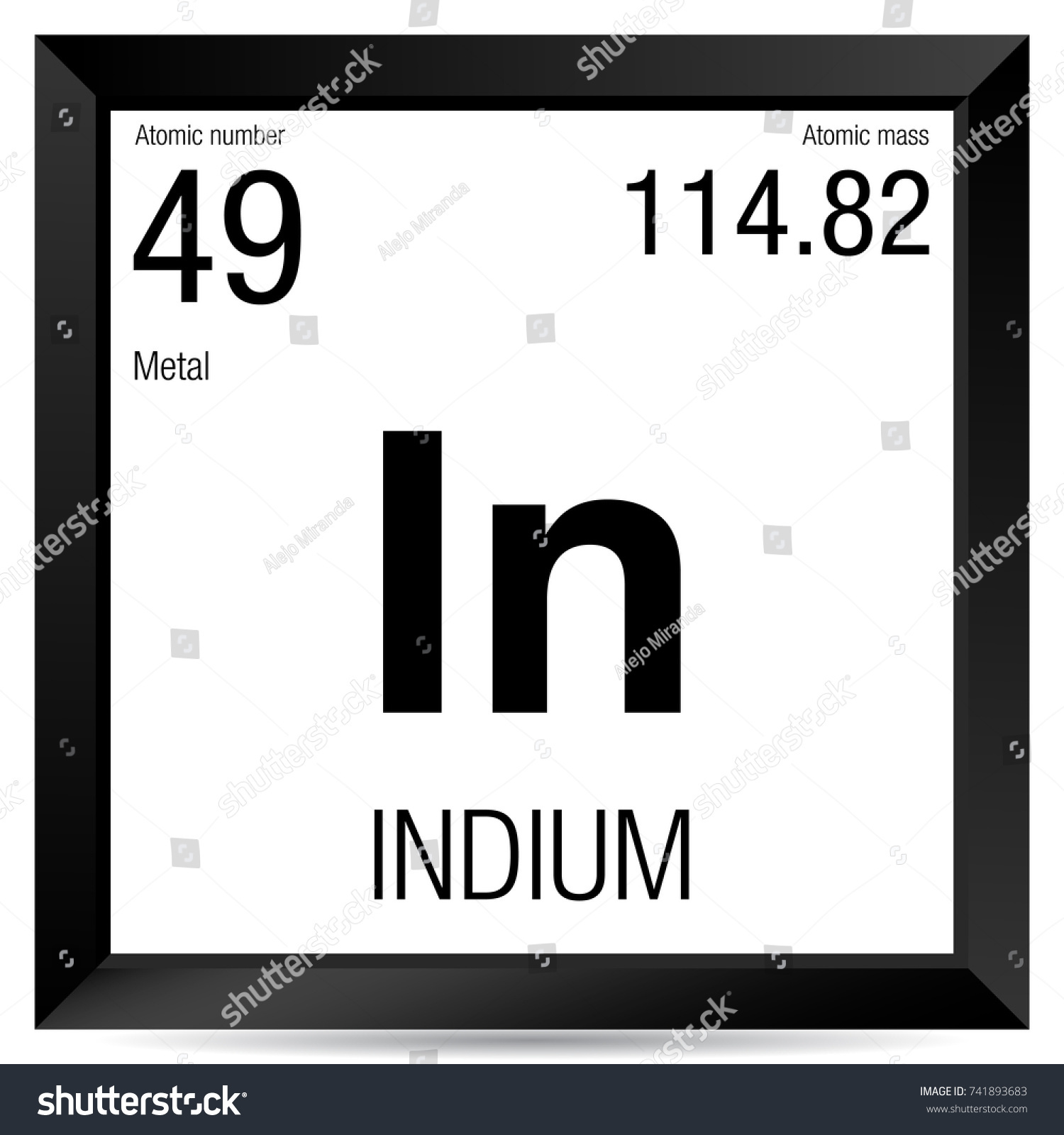 Indium symbol element number 49 periodic stock vector 741893683 indium symbol element number 49 of the periodic table of the elements chemistry biocorpaavc Images