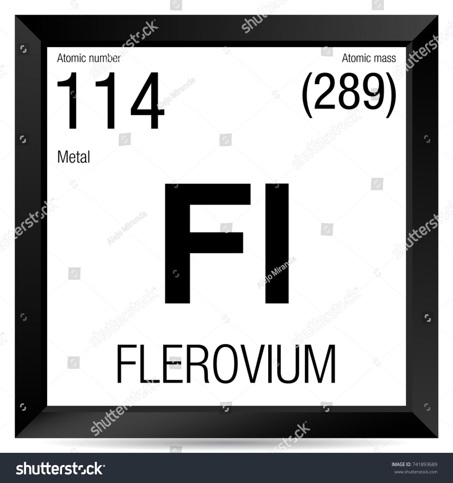 Flerovium symbol element number 114 periodic stock vector element number 114 of the periodic table of the elements chemistry gamestrikefo Images