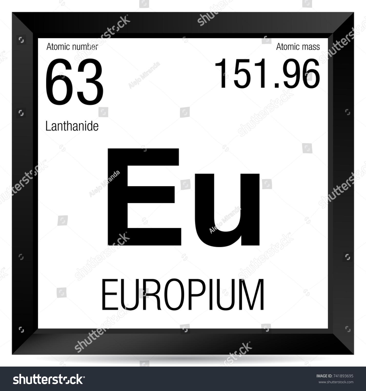 Symbol of europium gallery meaning of text symbols europium symbol element number 63 periodic stock vector 741893695 urtaz Choice Image