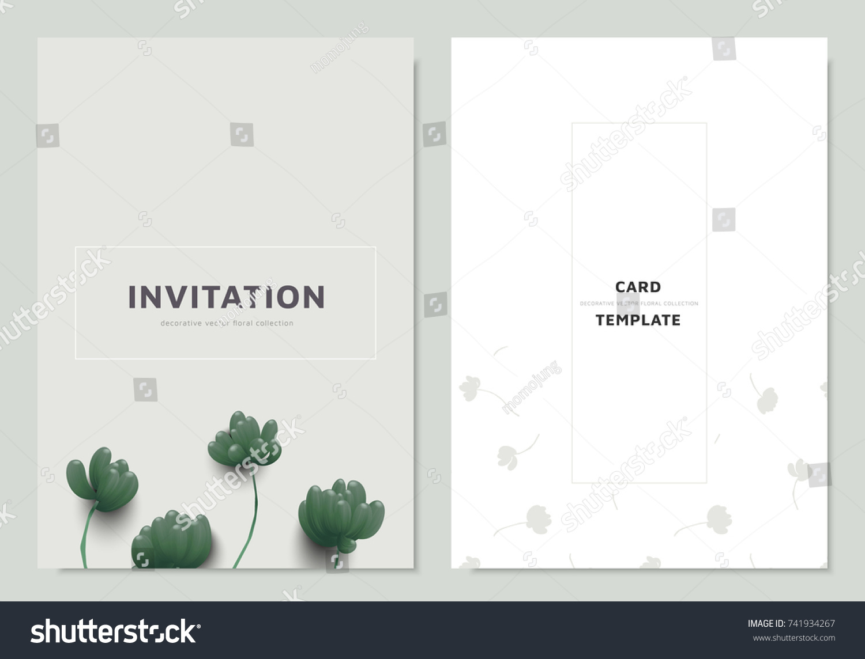 Invitation Card Template Design Green Sedum Rubrotinctum Or Jelly Bean Plant