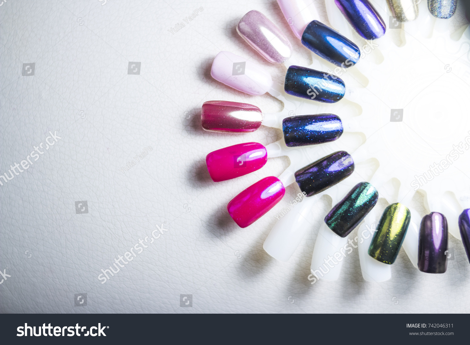 Color Polish Manicure Design Nails Testers Stock Photo (Safe to Use ...