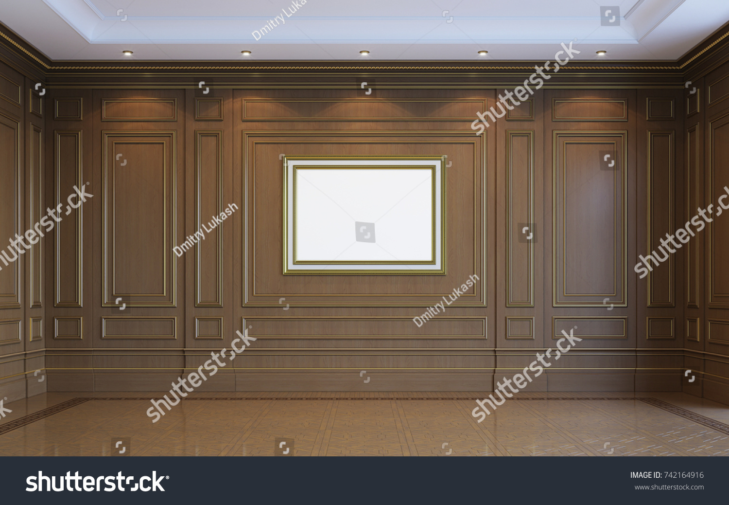 Classic Interior Wood Paneling By Art Stock Illustration - Royalty ...