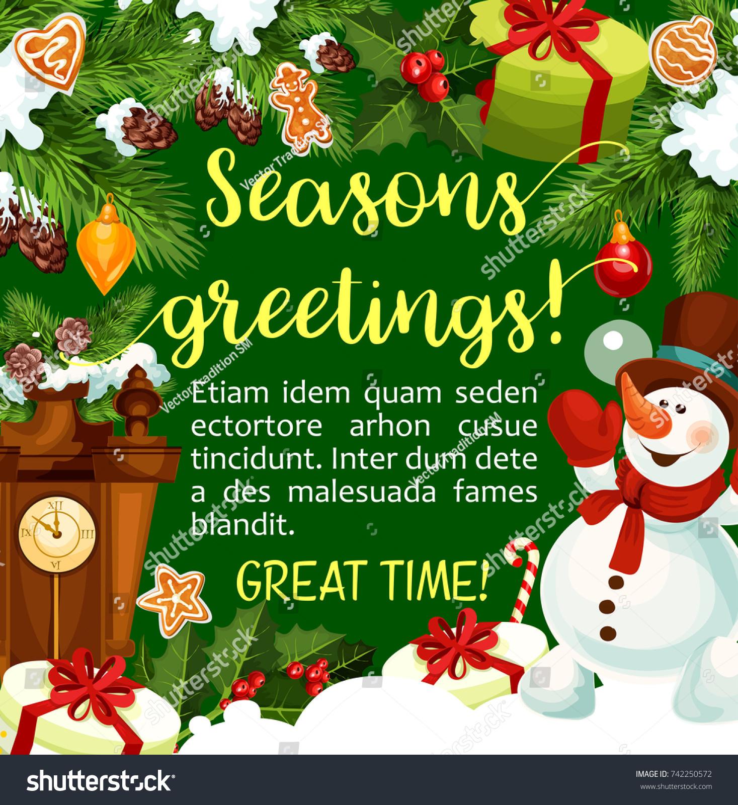 Christmas New Year Winter Season Greeting Stock Vector Royalty Free