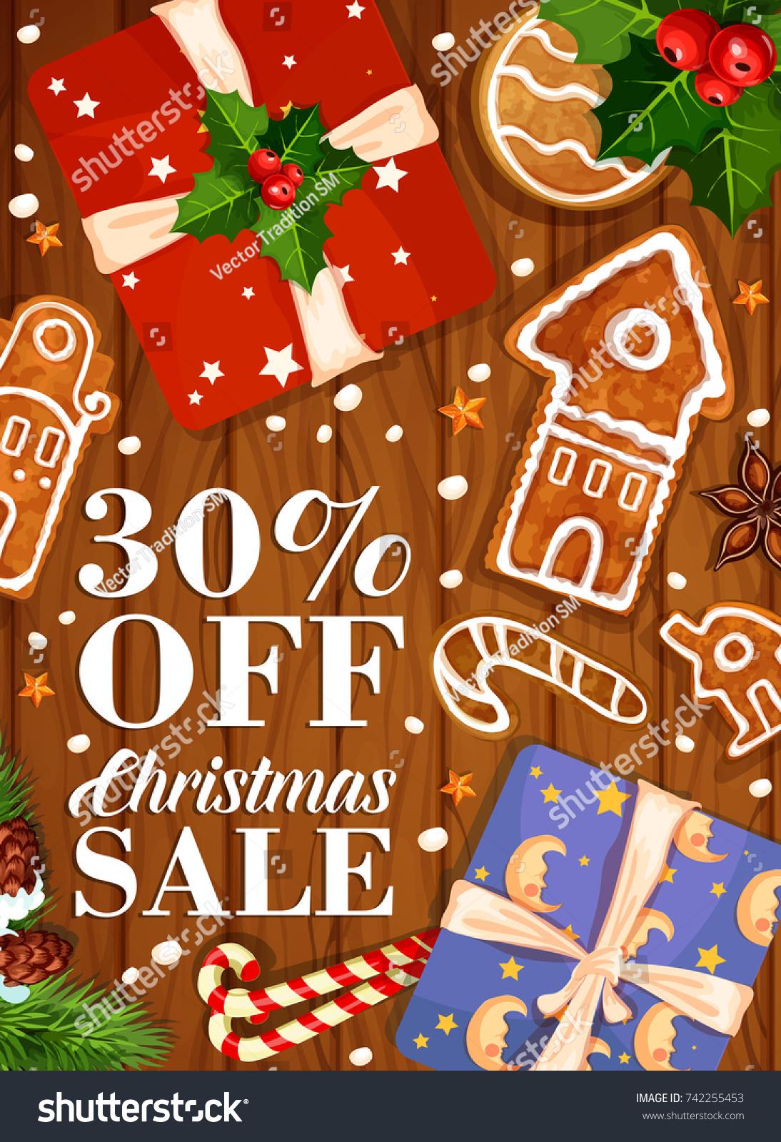 Christmas Sale Poster Santa Gifts Winter Stock Vector (Royalty Free ...