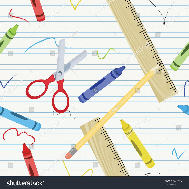 Tileable Educational Background Stock Vector 74225686 - Shutterstock