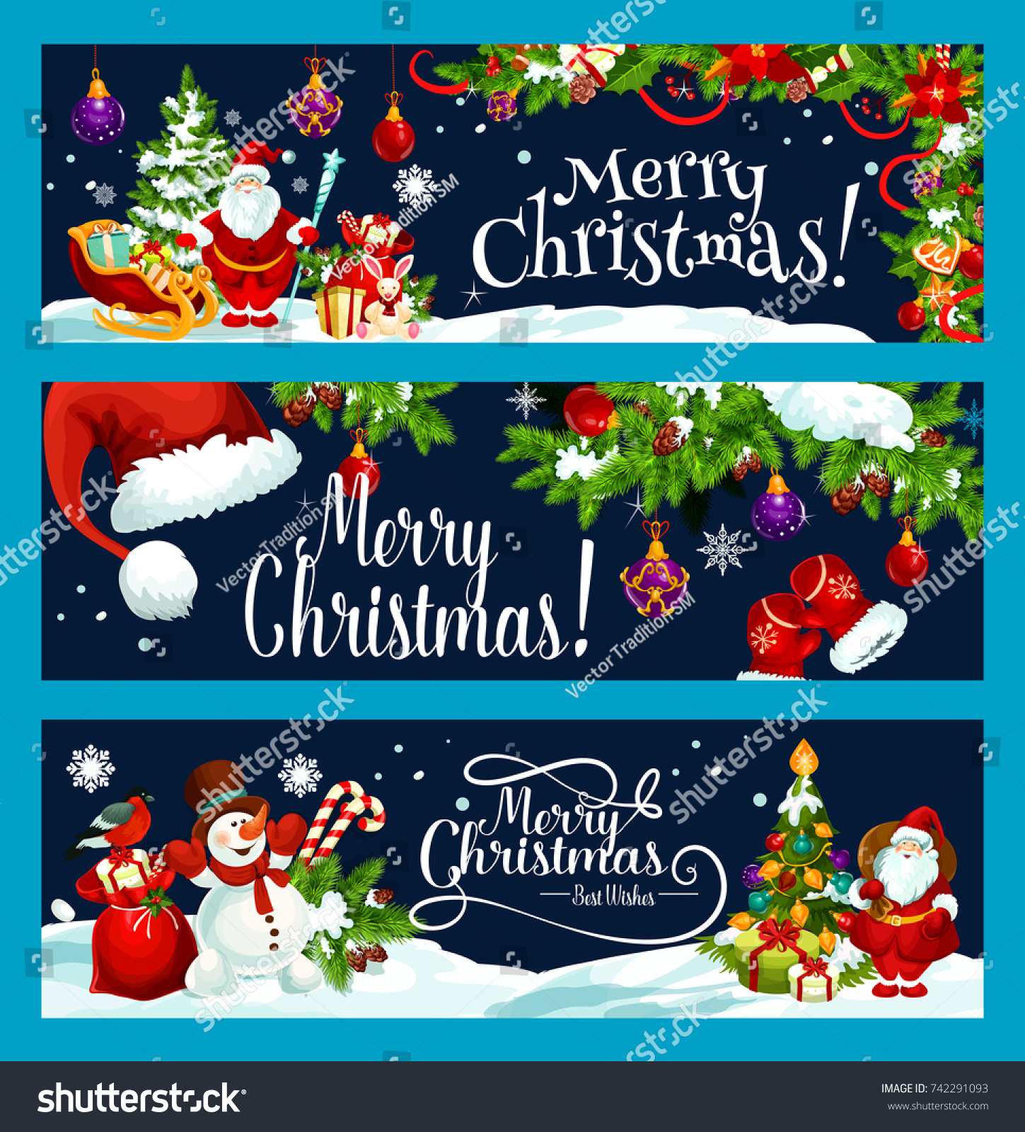 merry christmas and best wish greeting banners design template vector santa gift bag at christmas - Best Wishes For Christmas