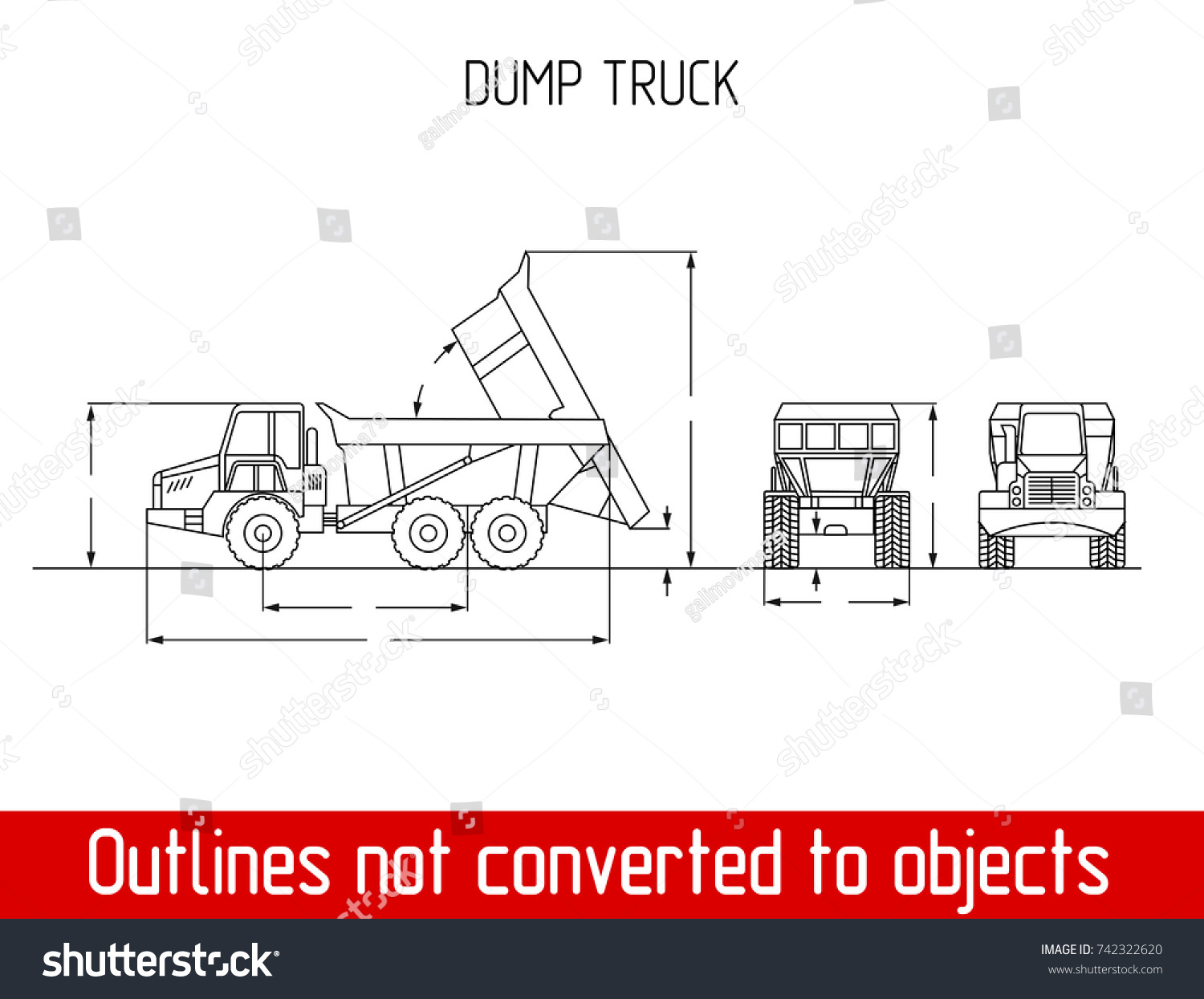 Typical agriculated truck overall dimensions outline stock vector typical agriculated truck overall dimensions outline blueprint template malvernweather Image collections