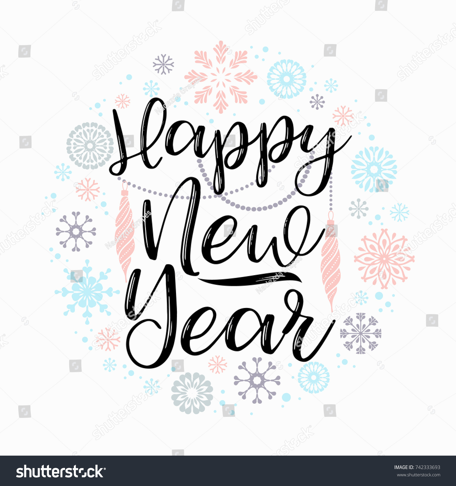 Happy New Year Lettering Design 49