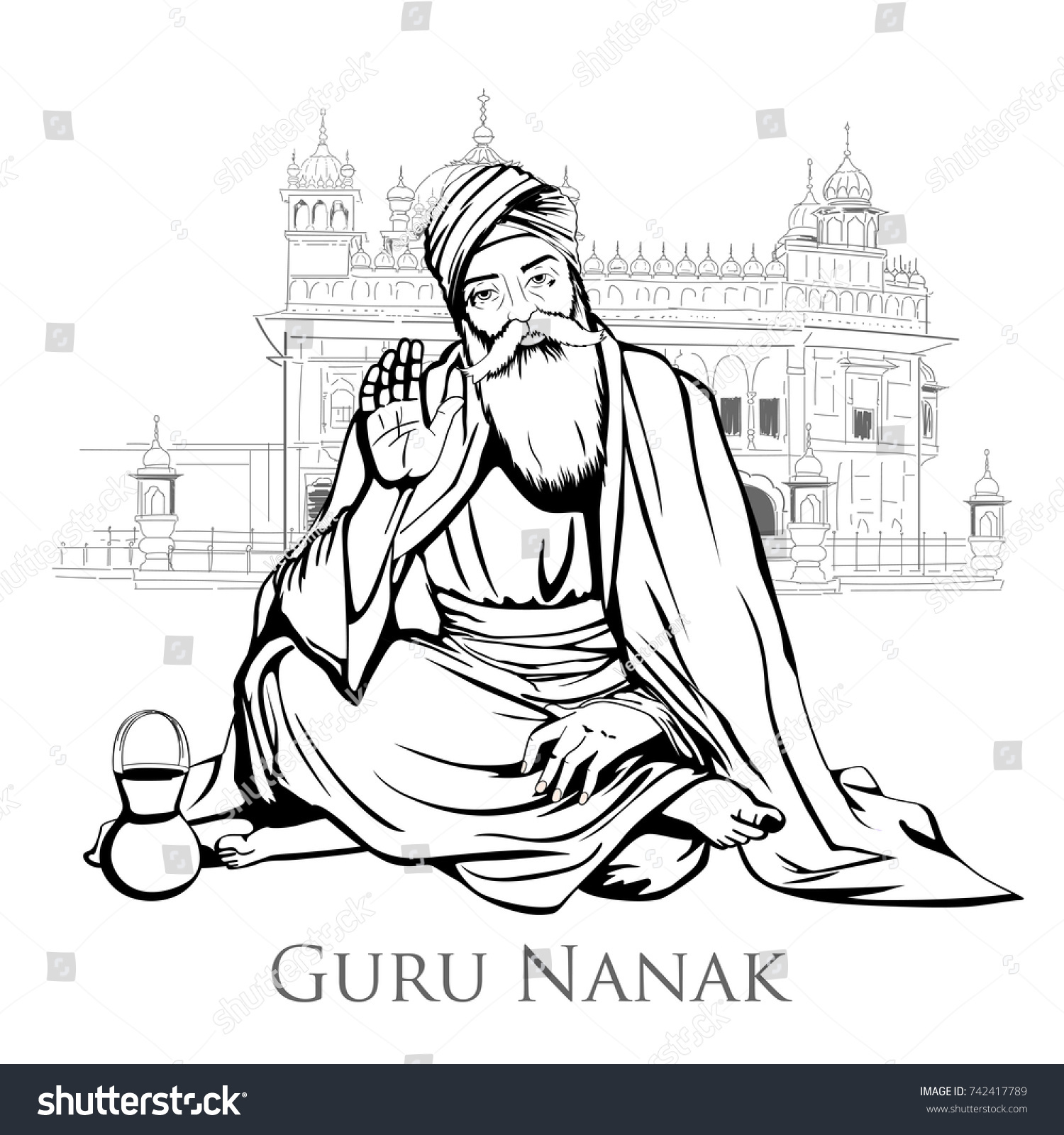 Illustration Of Happy Gurpurab Guru Nanak Jayanti Festival Sikh Celebration Background
