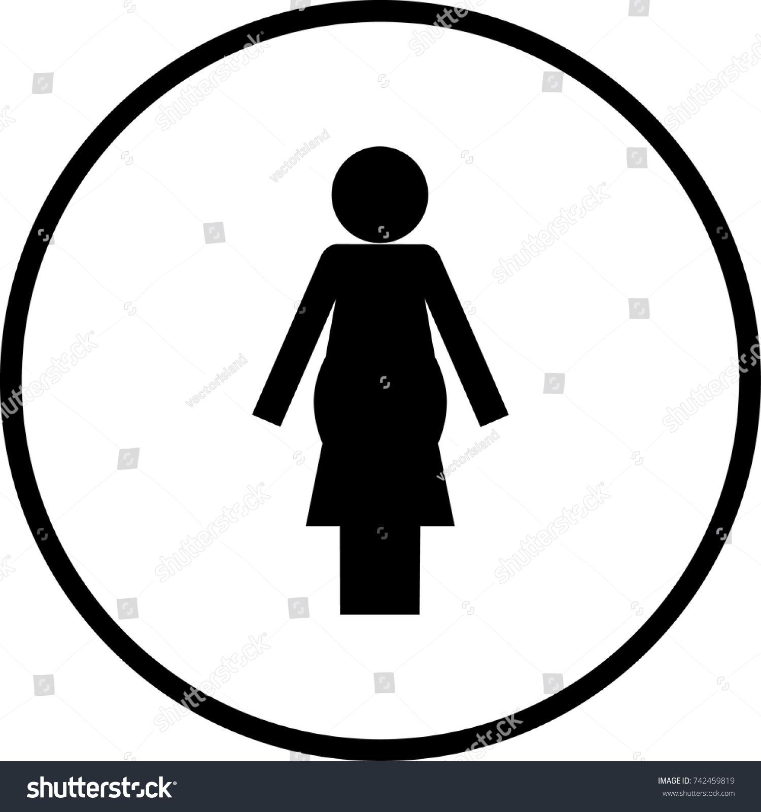Pregnant Woman Symbol Stock Vector Royalty Free 742459819