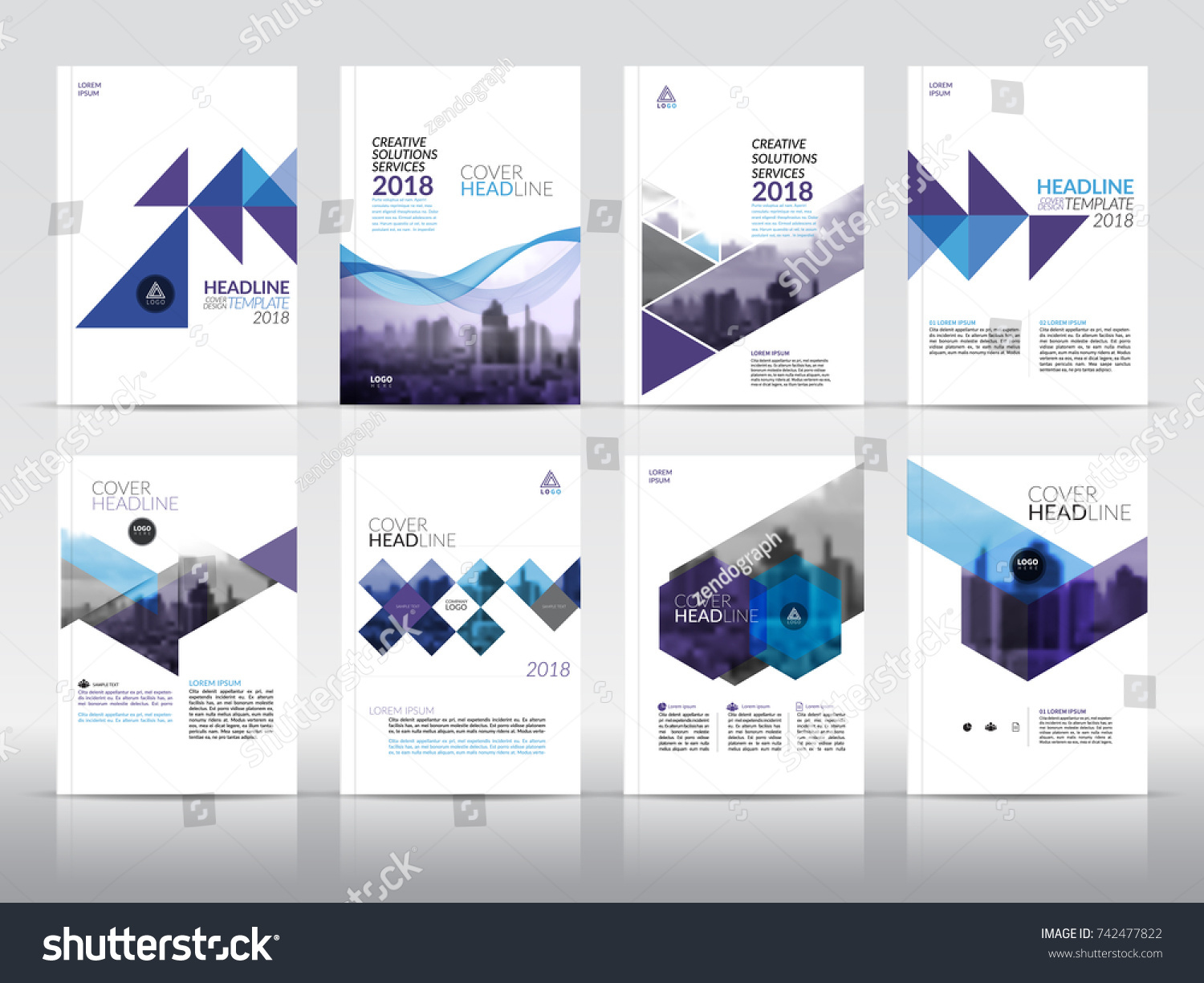 Set Cover Design Templates Annual Stock Vector Royalty Free - Logo layout templates