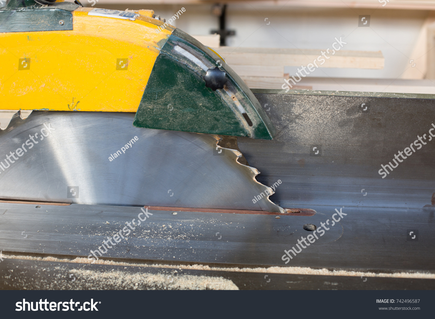 Enjoyable Close Circular Saw Bench Sharp Rotary Stock Photo Edit Now Ocoug Best Dining Table And Chair Ideas Images Ocougorg