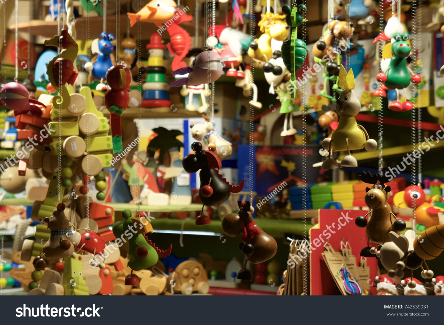 Childrens Toys Cologne Cathedral Christmas Market Stock Photo (Edit ...