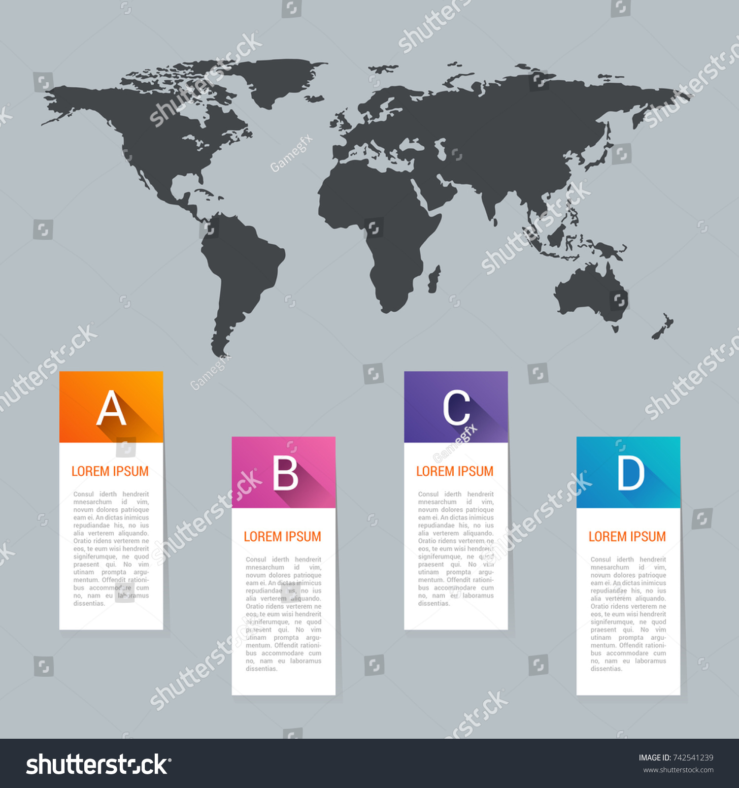 World map pointer marks icon flat stock illustration 742541239 world map pointer marks icon flat web sign symbol logo label set gumiabroncs Images