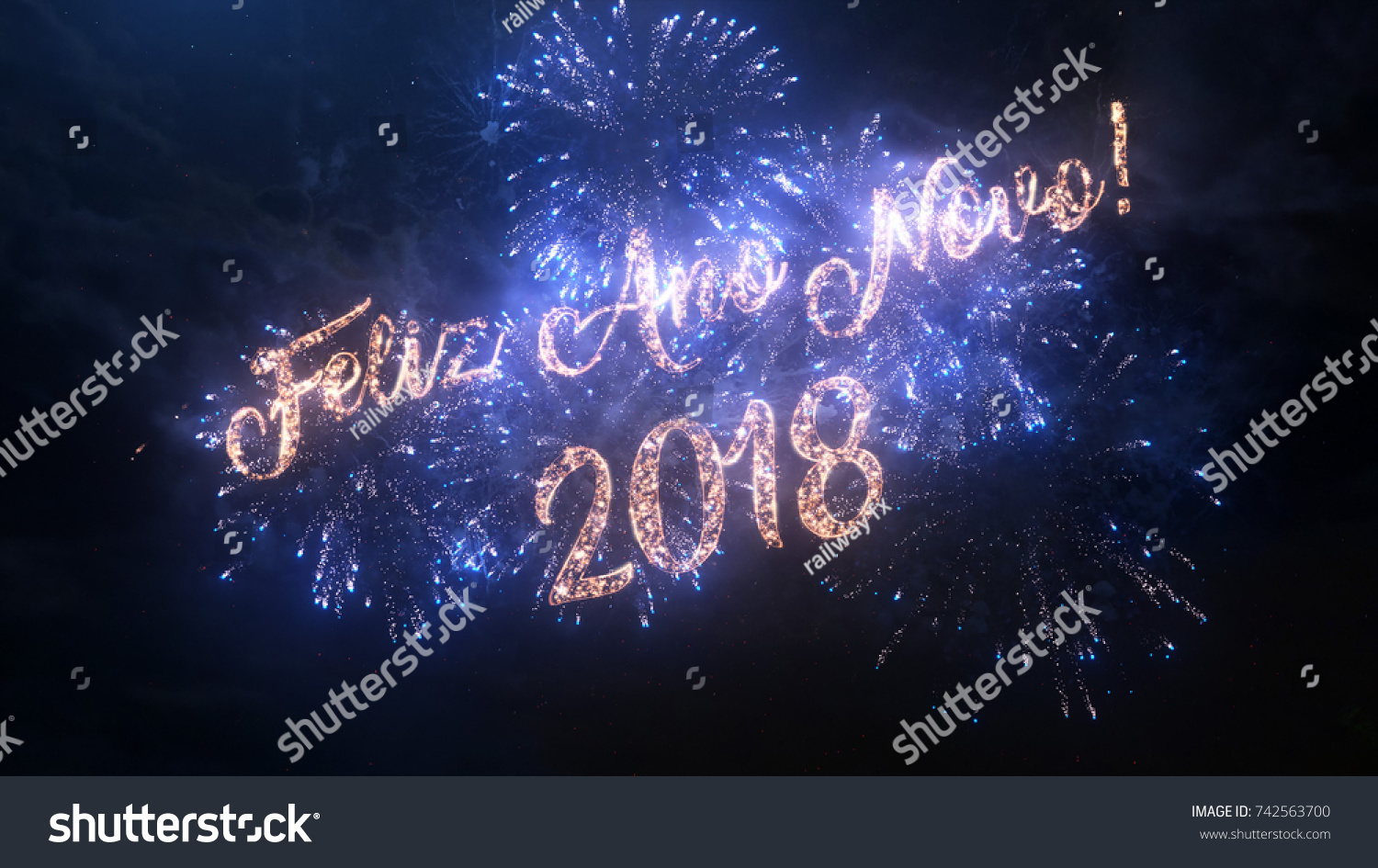 2018 Happy New Year Greeting Text Stock Photo Edit Now 742563700
