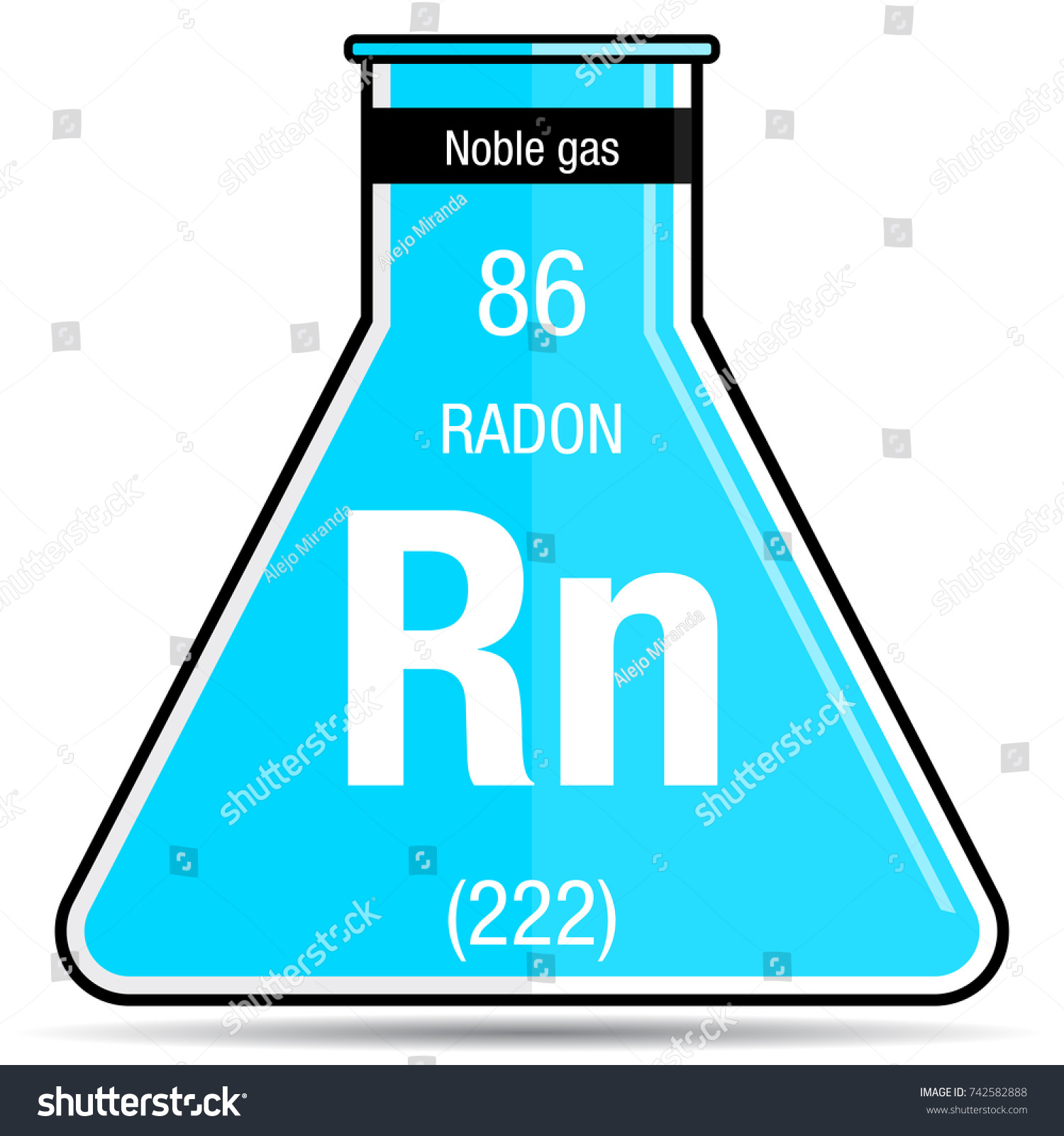 Radon on the periodic table images periodic table images radon symbol on chemical flask element stock vector 742582888 radon symbol on chemical flask element number gamestrikefo Choice Image