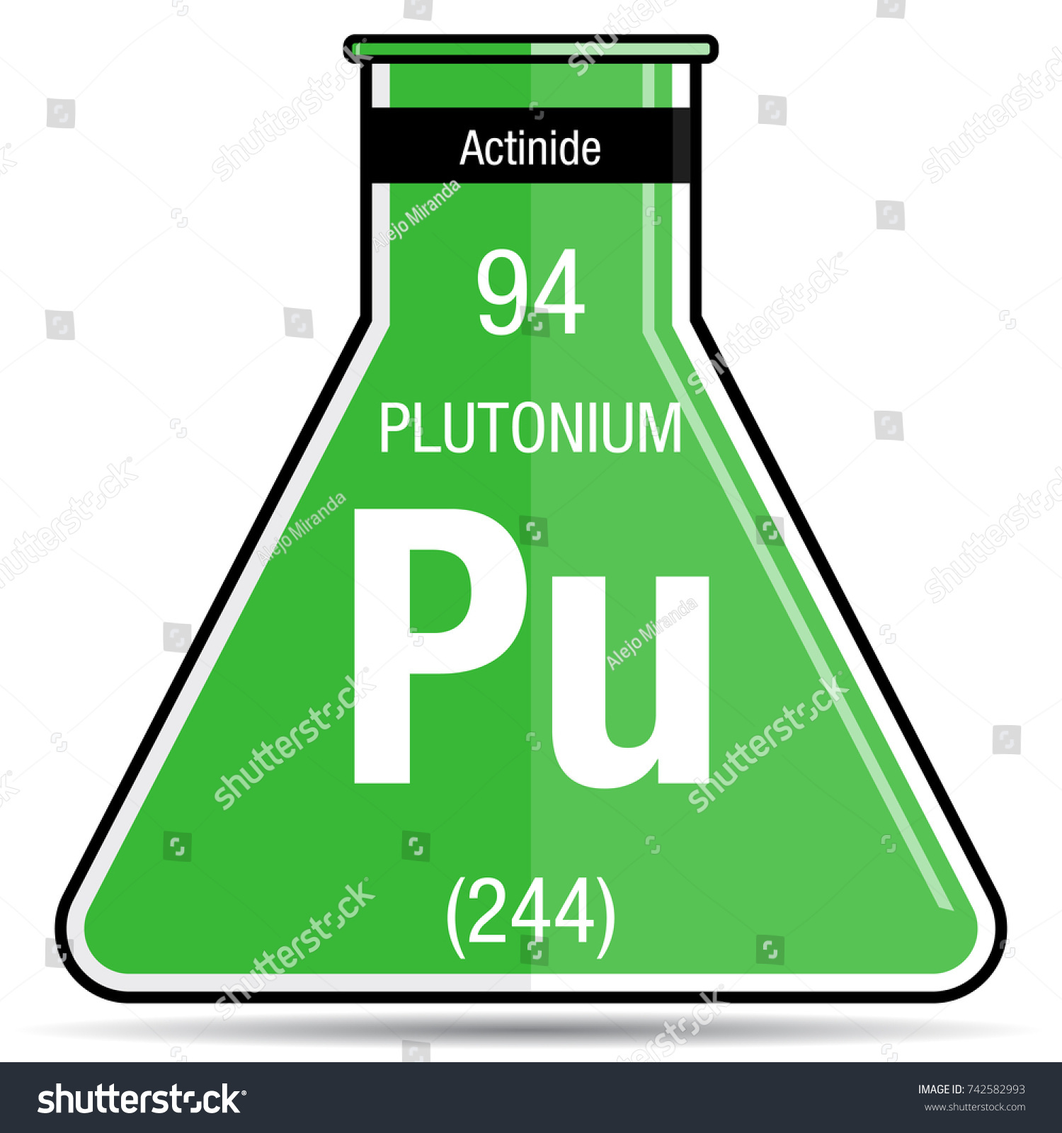 Plutonium symbol on chemical flask element stock vector 742582993 plutonium symbol on chemical flask element number 94 of the periodic table of the elements gamestrikefo Choice Image