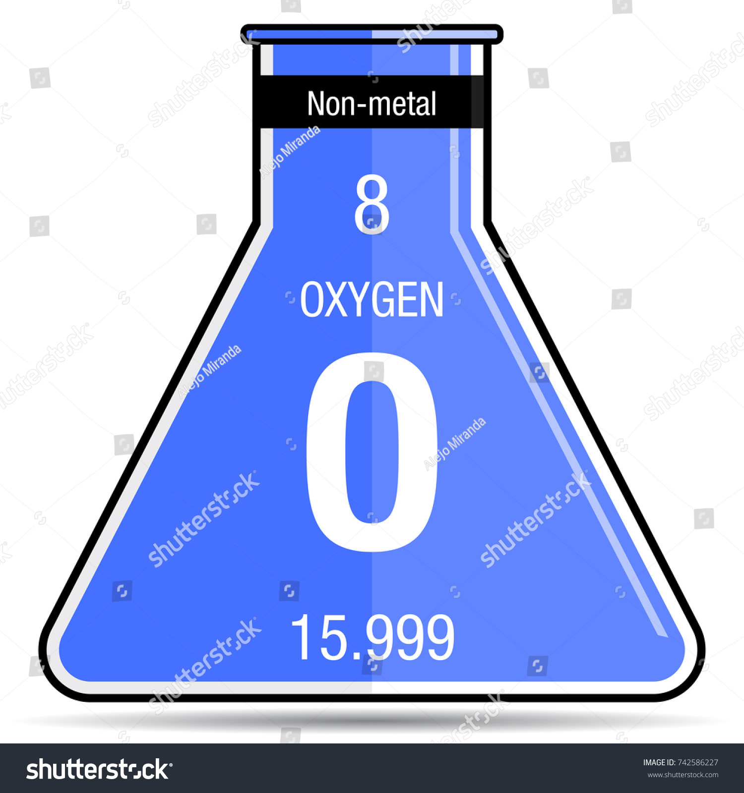 Oxygen symbol on chemical flask element stock vector 742586227 oxygen symbol on chemical flask element number 8 of the periodic table of the elements buycottarizona Image collections